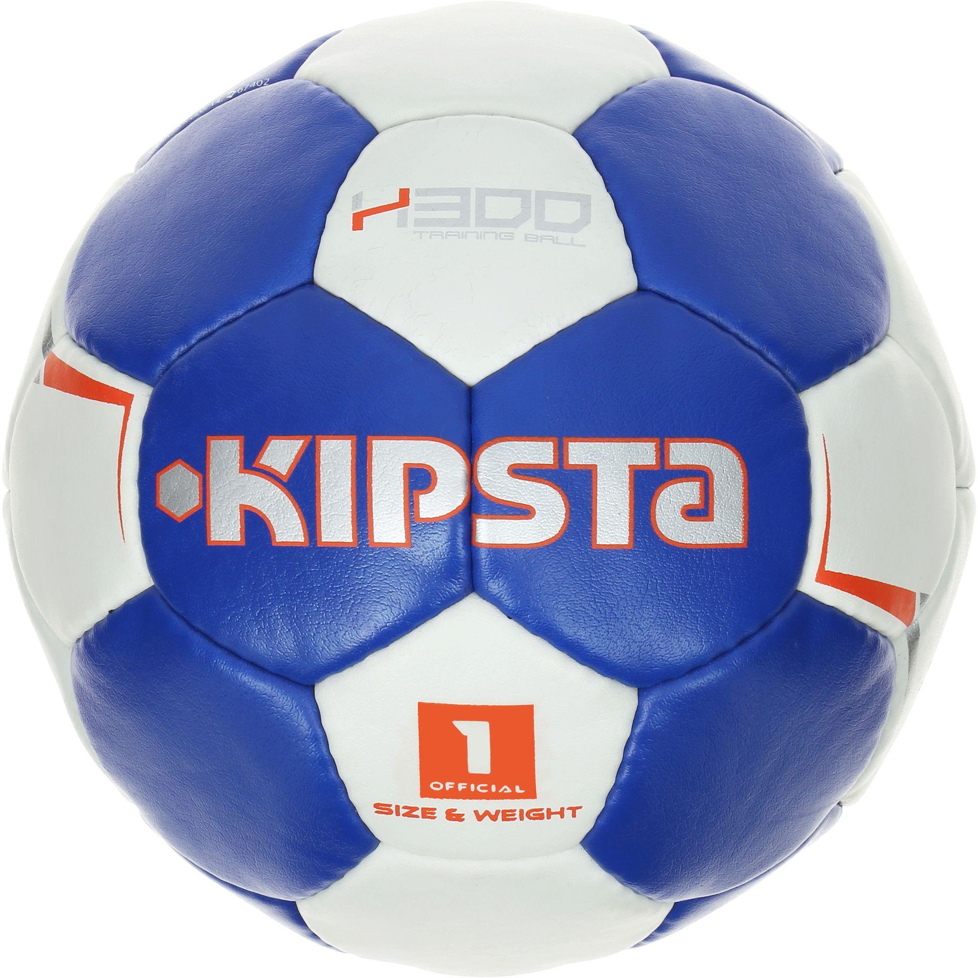 Ballon de handball enfant H300 taille 1 bleu blanc