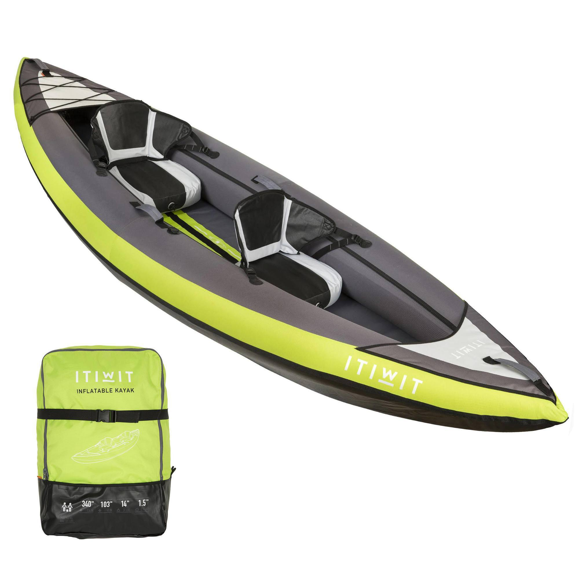KAYAK GONFLABLE 1/2 PLACES NEW ITIWIT 2 VERT