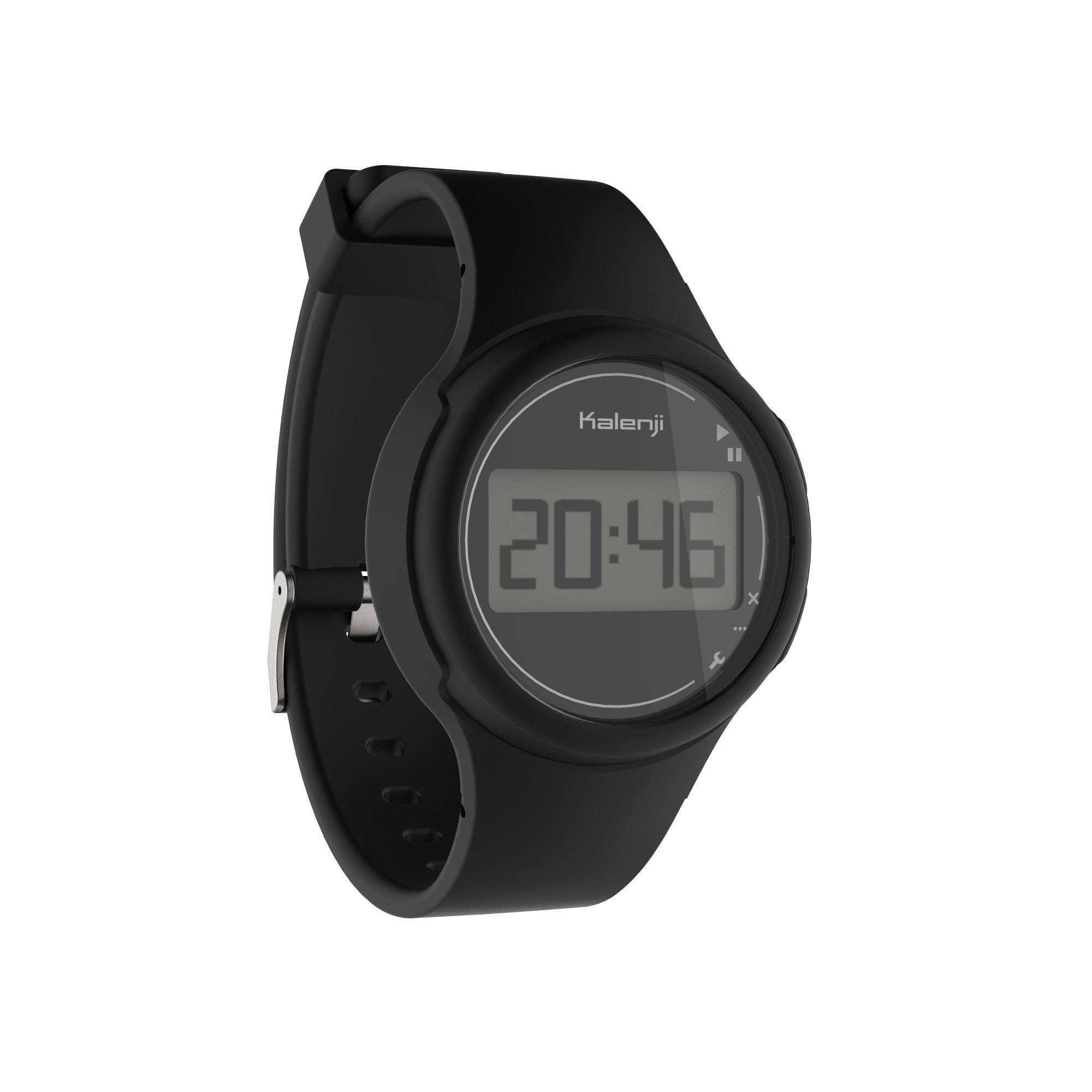 Montre chronomètre de course à pied W100 S noire