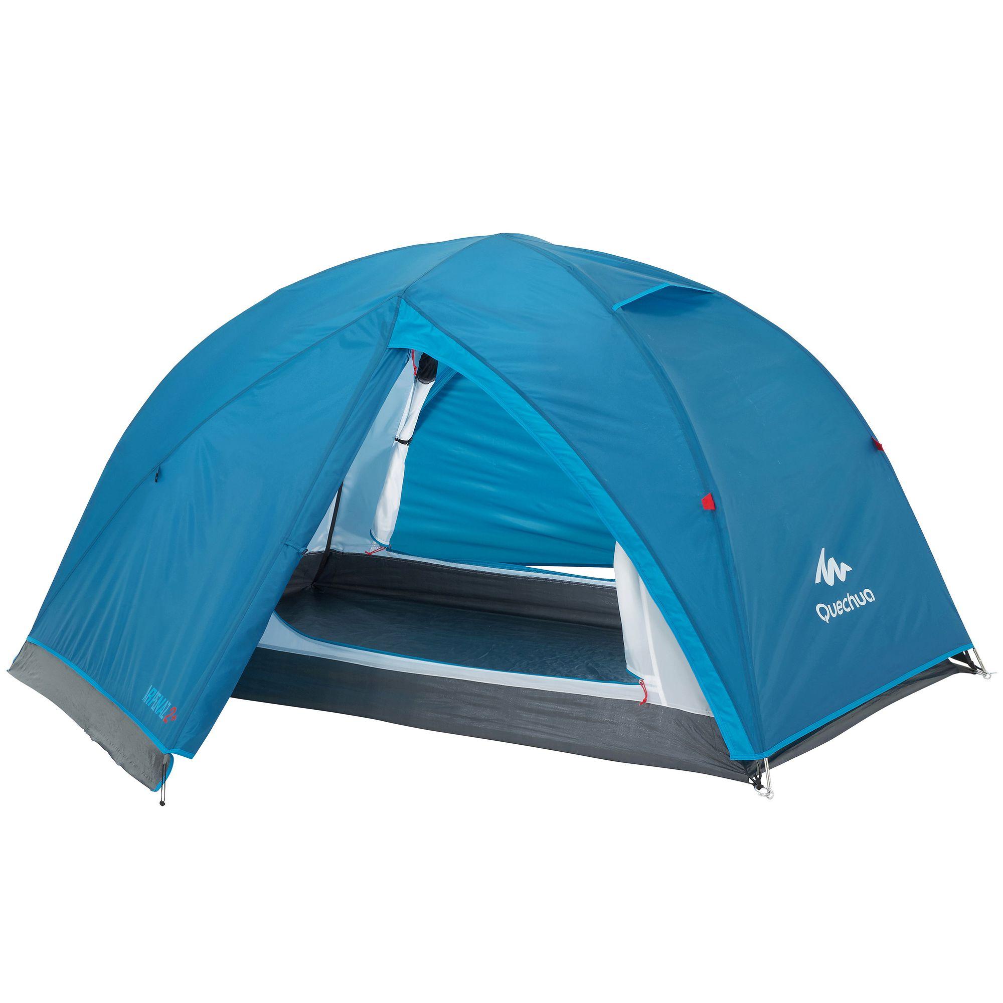 Tente de camping ARPENAZ 2+ | 2 personnes bleu