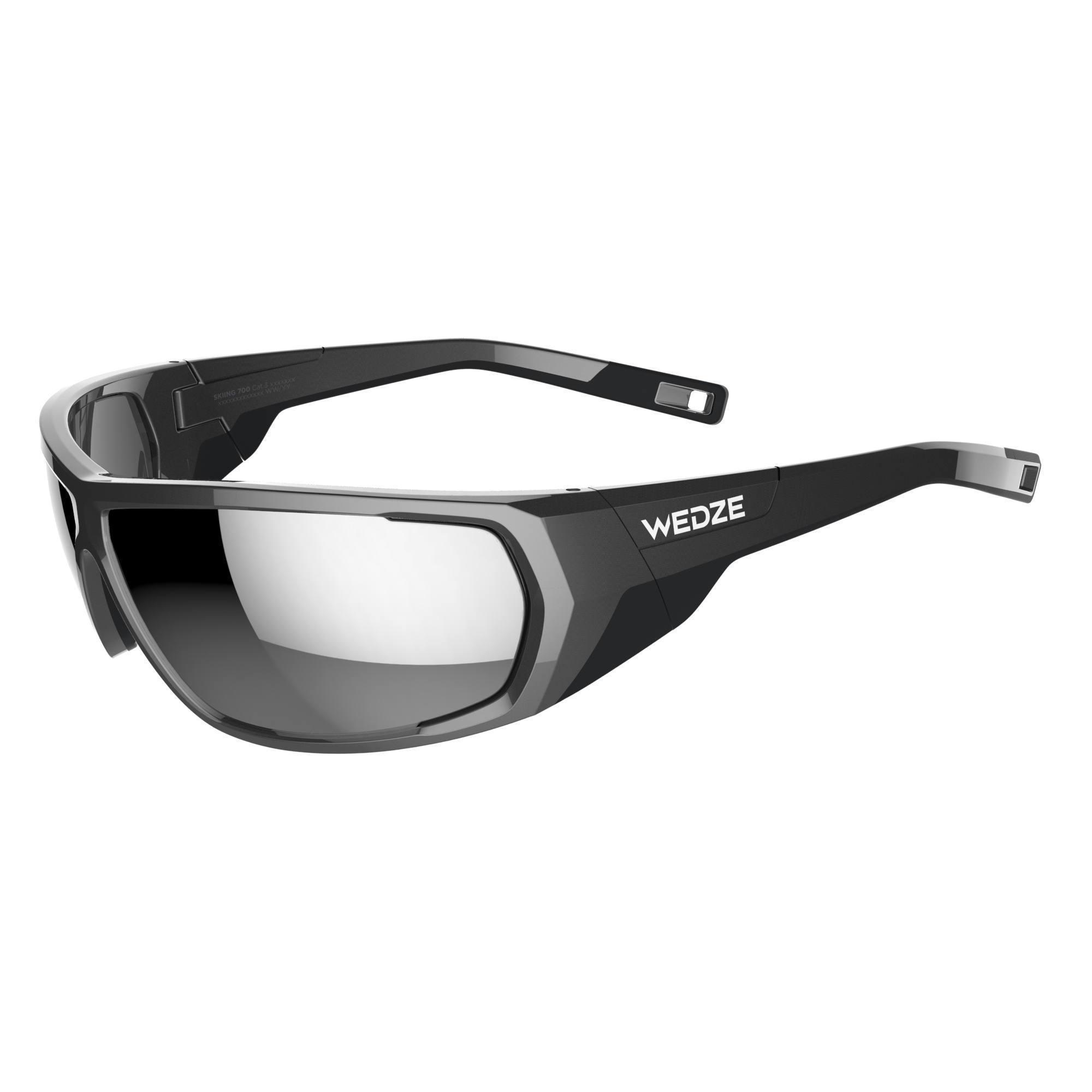 Lunettes de ski adulte SKIING 700 grises & noires polarisantes catégorie 3