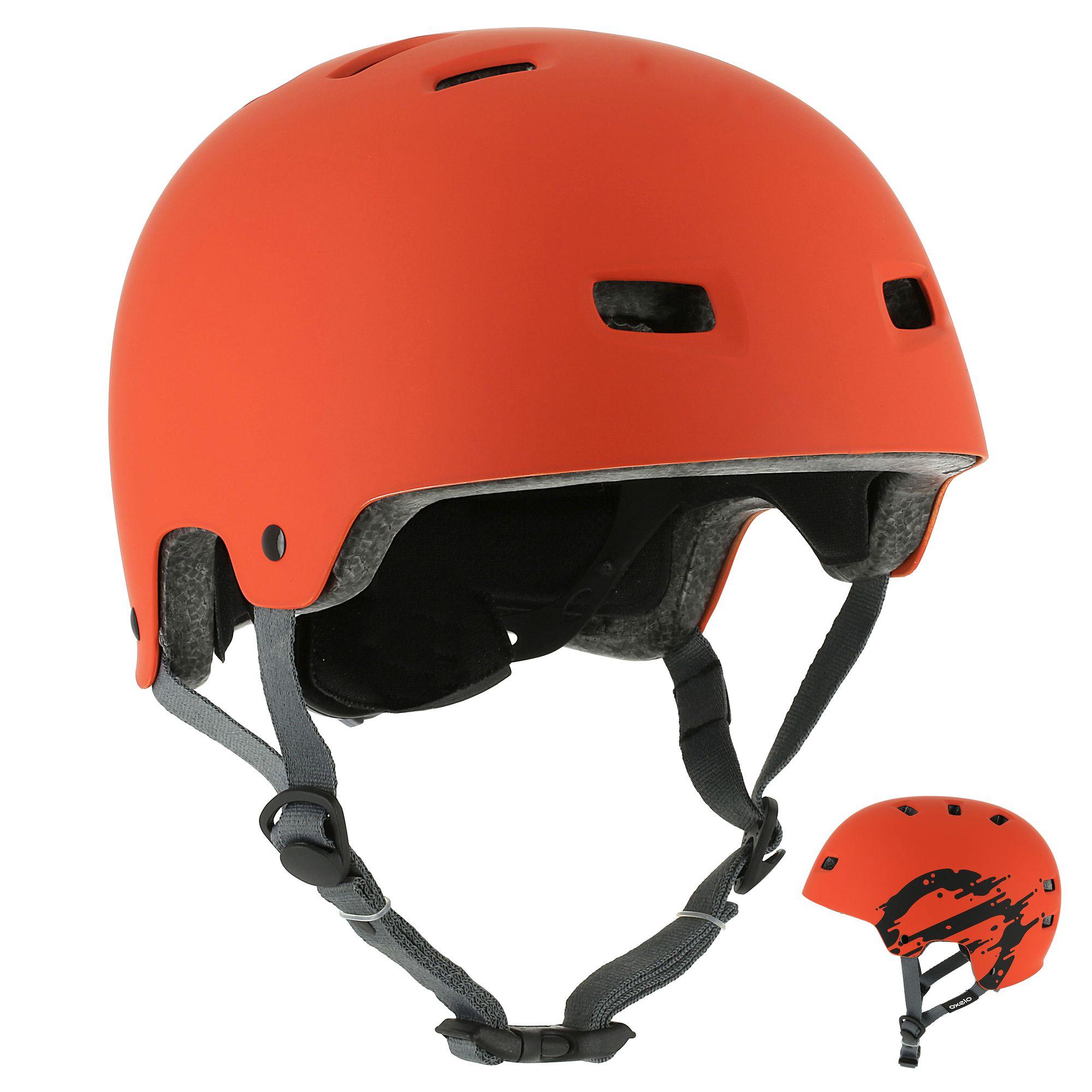 Casque roller skateboard trottinette vélo MF 7 orange