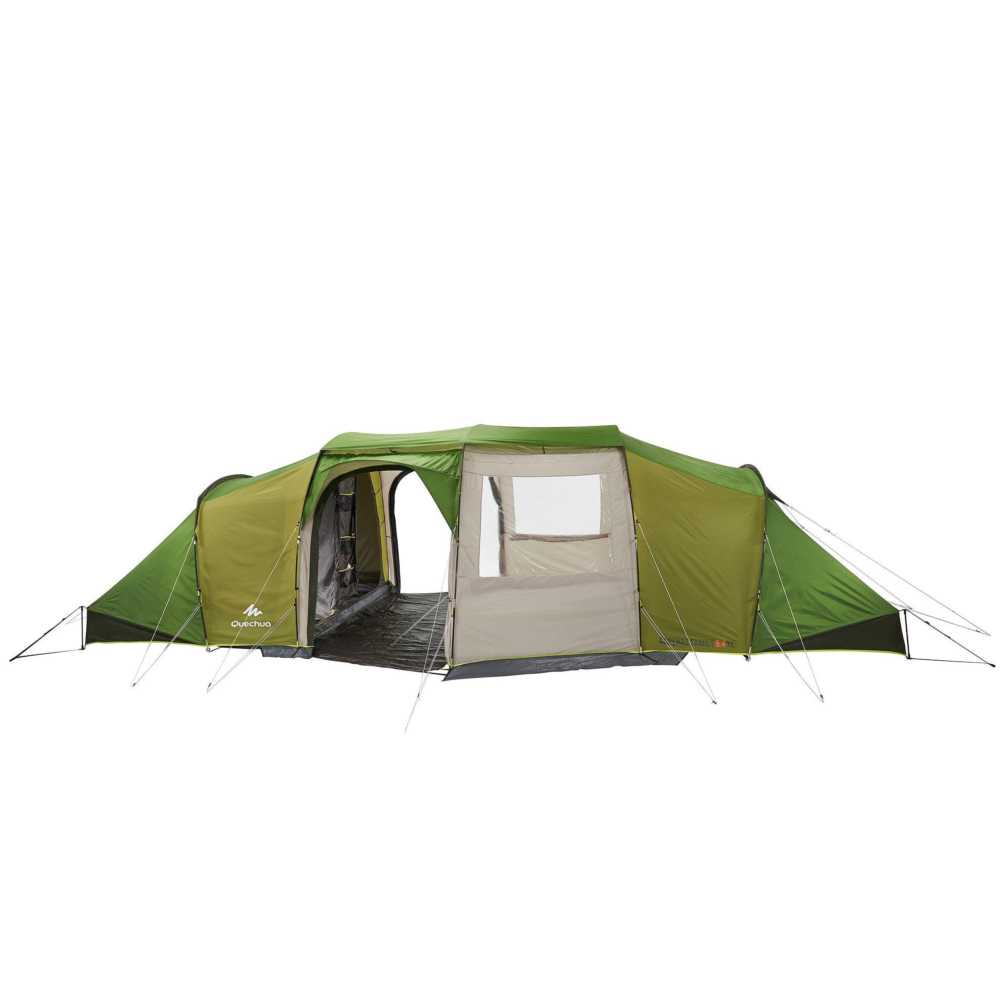 Tente de camping familiale Arpenaz family 8.4xl 8 personnes verte