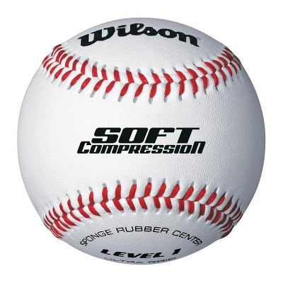 BALLE BASEBALL WILSON SOFT COMPRESSION