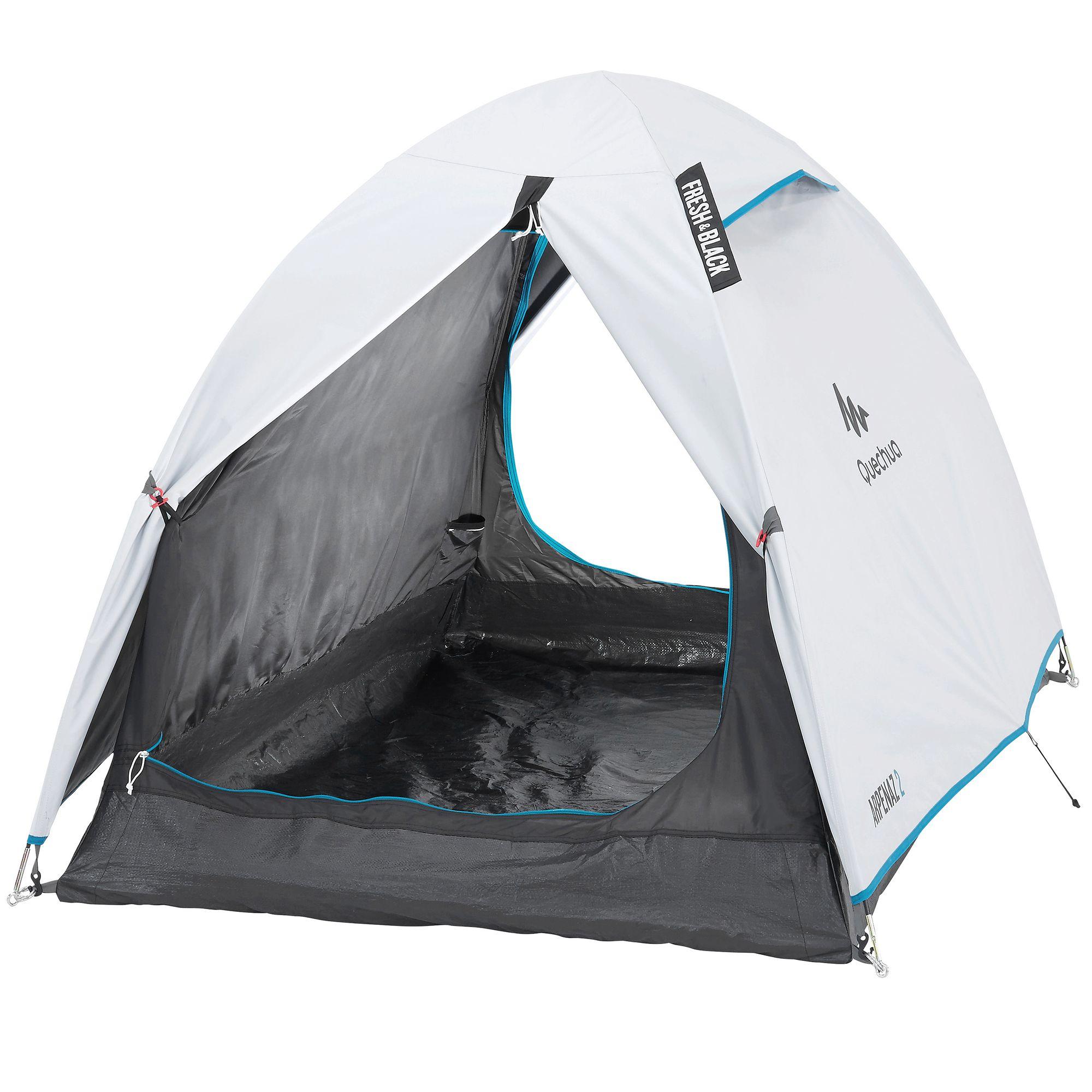 Tente de camping arpenaz 2 personnes fresh&black