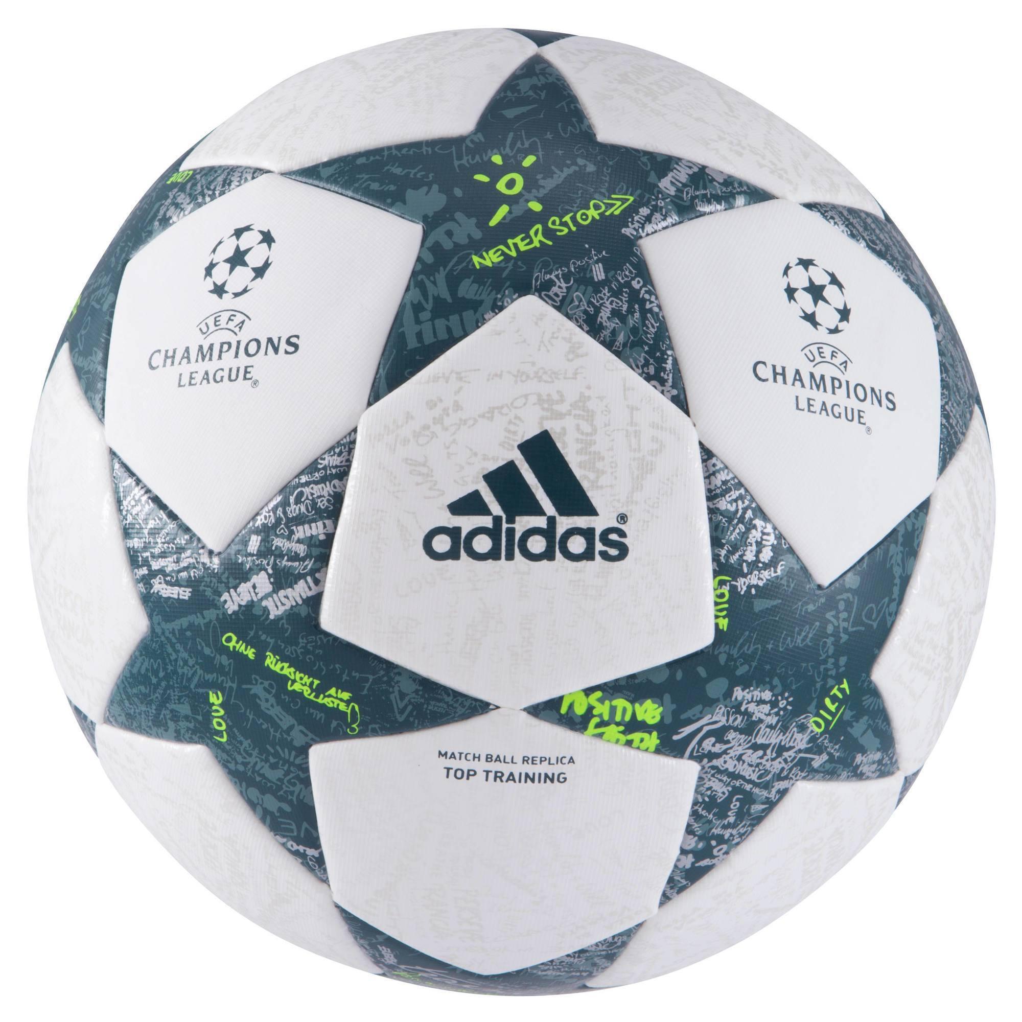 Ballon football Finale Top Training DFL blanc vert