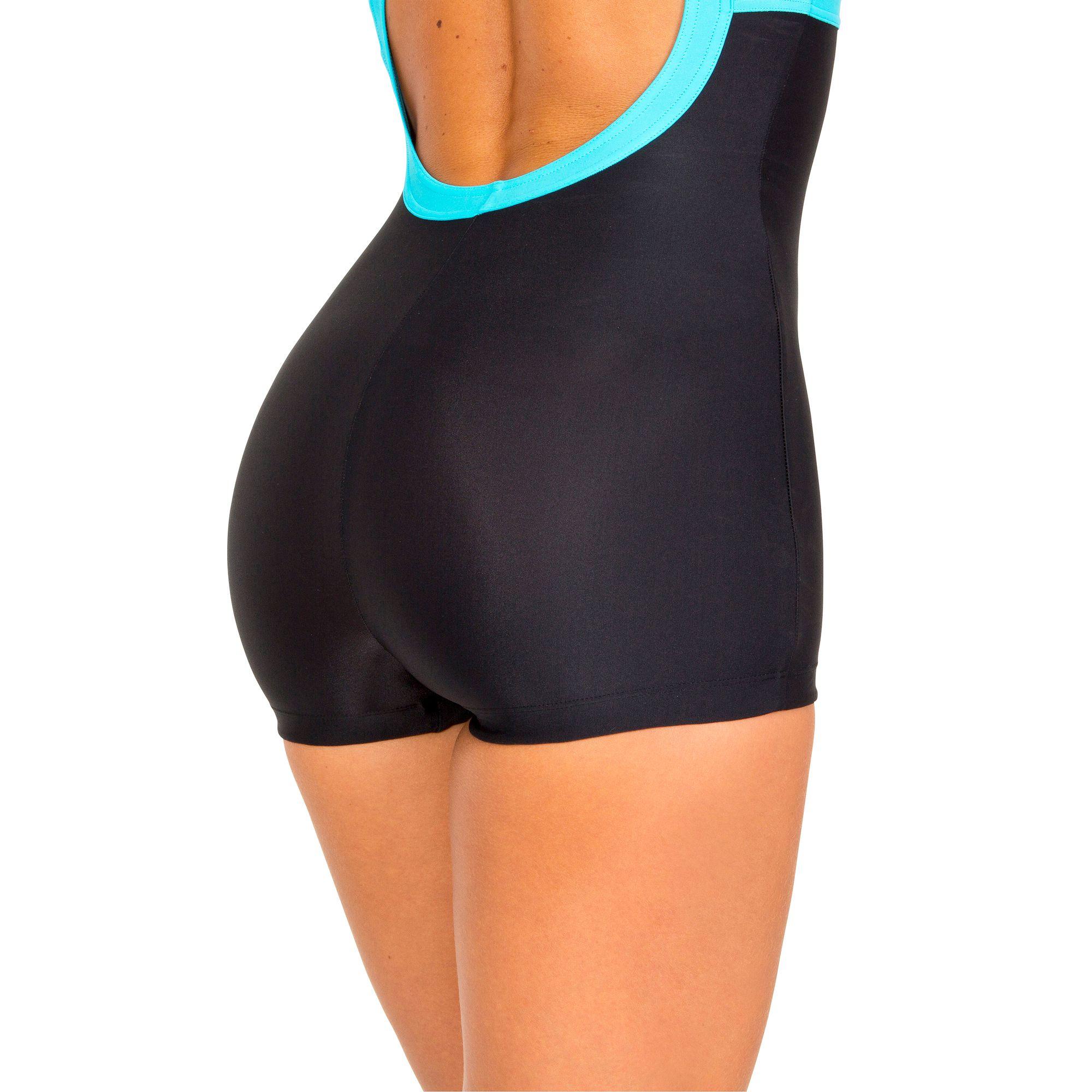 maillot de bain femme une pi ce shorty debo noir. Black Bedroom Furniture Sets. Home Design Ideas