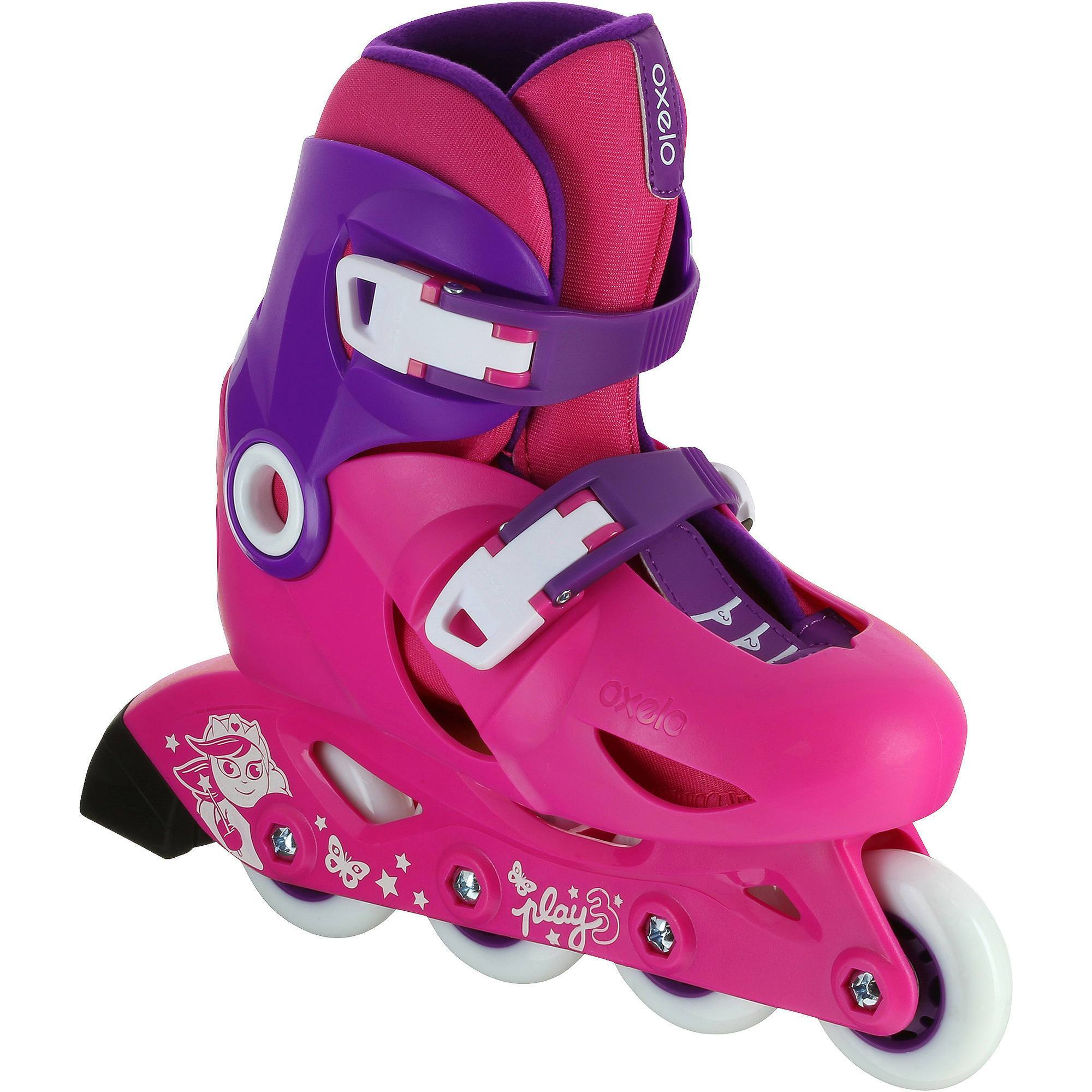 roller enfant PLAY 3 rose violet