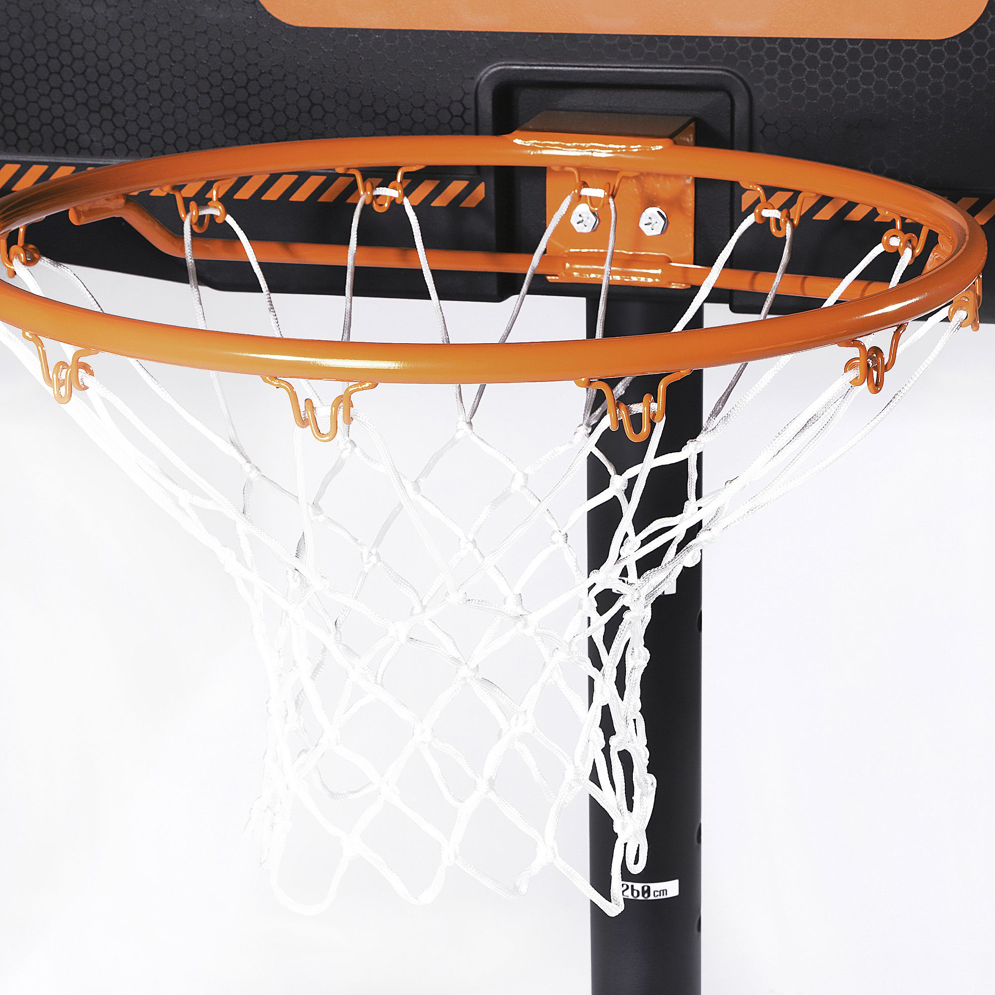 panier de basket enfant adulte b300 noir orange 2 20m 3. Black Bedroom Furniture Sets. Home Design Ideas