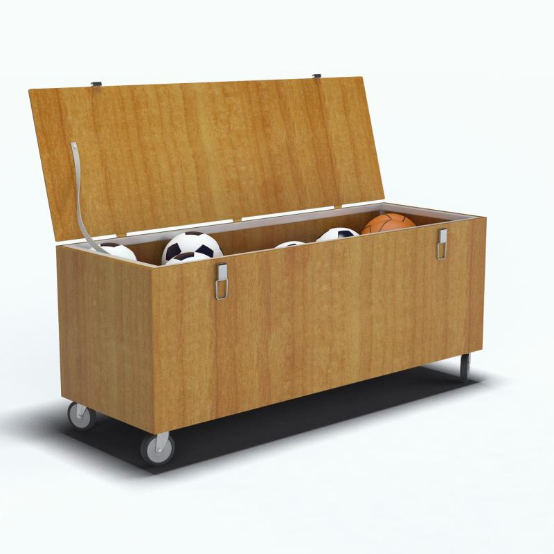 coffre rangement bois sur roulettes clubs collectivit s decathlon pro. Black Bedroom Furniture Sets. Home Design Ideas