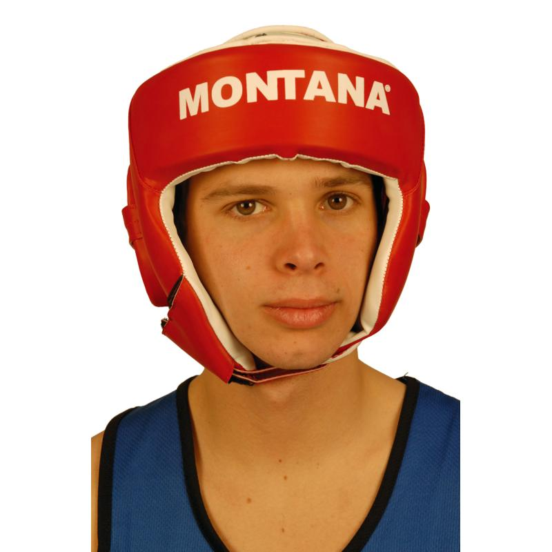 CASQUE DE PROTECTION BOXE ADULTE ROUGE MONTANA