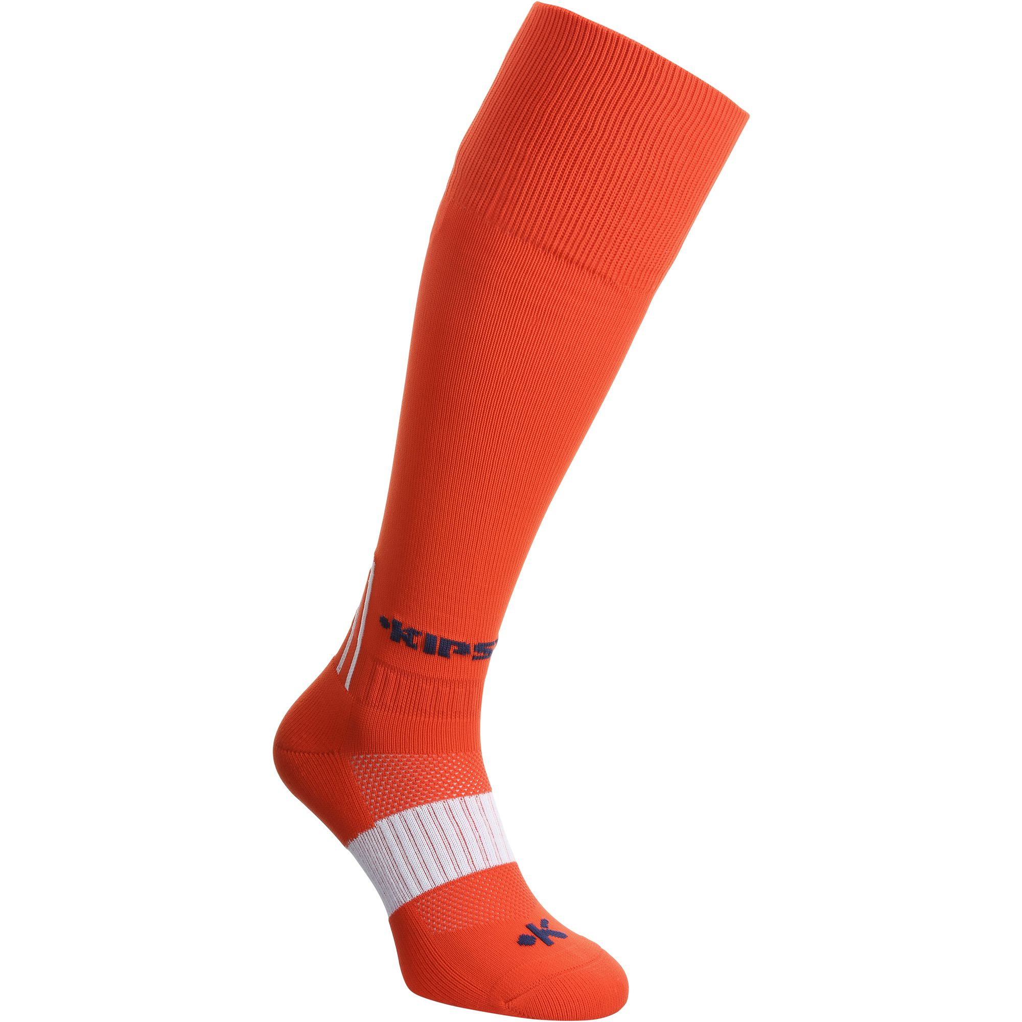 Chaussettes hautes football adulte F500 rouge