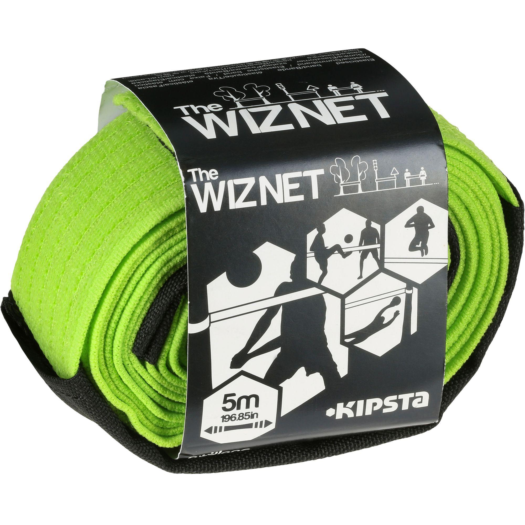 Filet de beach-volley extensible The Wiz Net vert