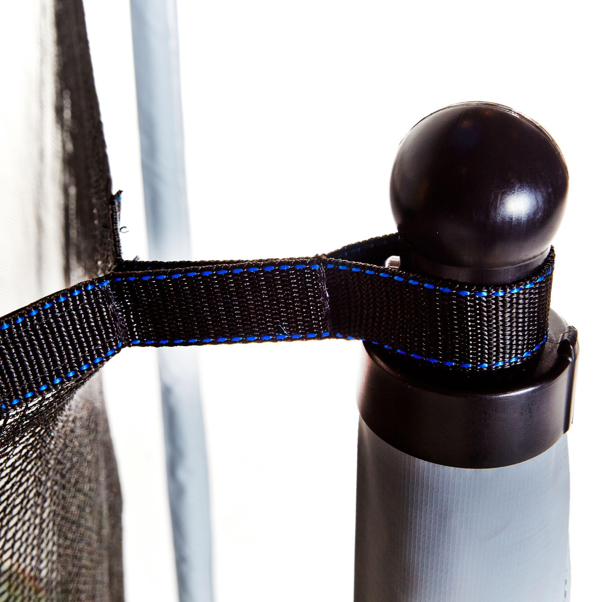 Trampoline essential 365 vert filet de protection for Trampoline exterieur decathlon
