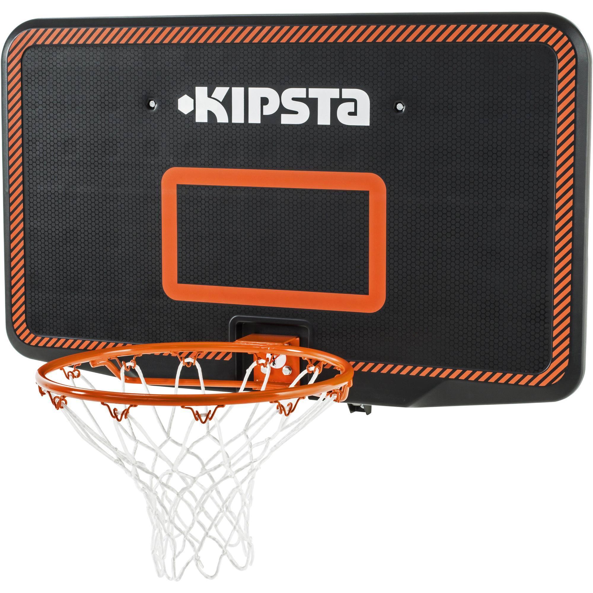 panneau de basket enfant adulte b300 noir orange a fixer. Black Bedroom Furniture Sets. Home Design Ideas