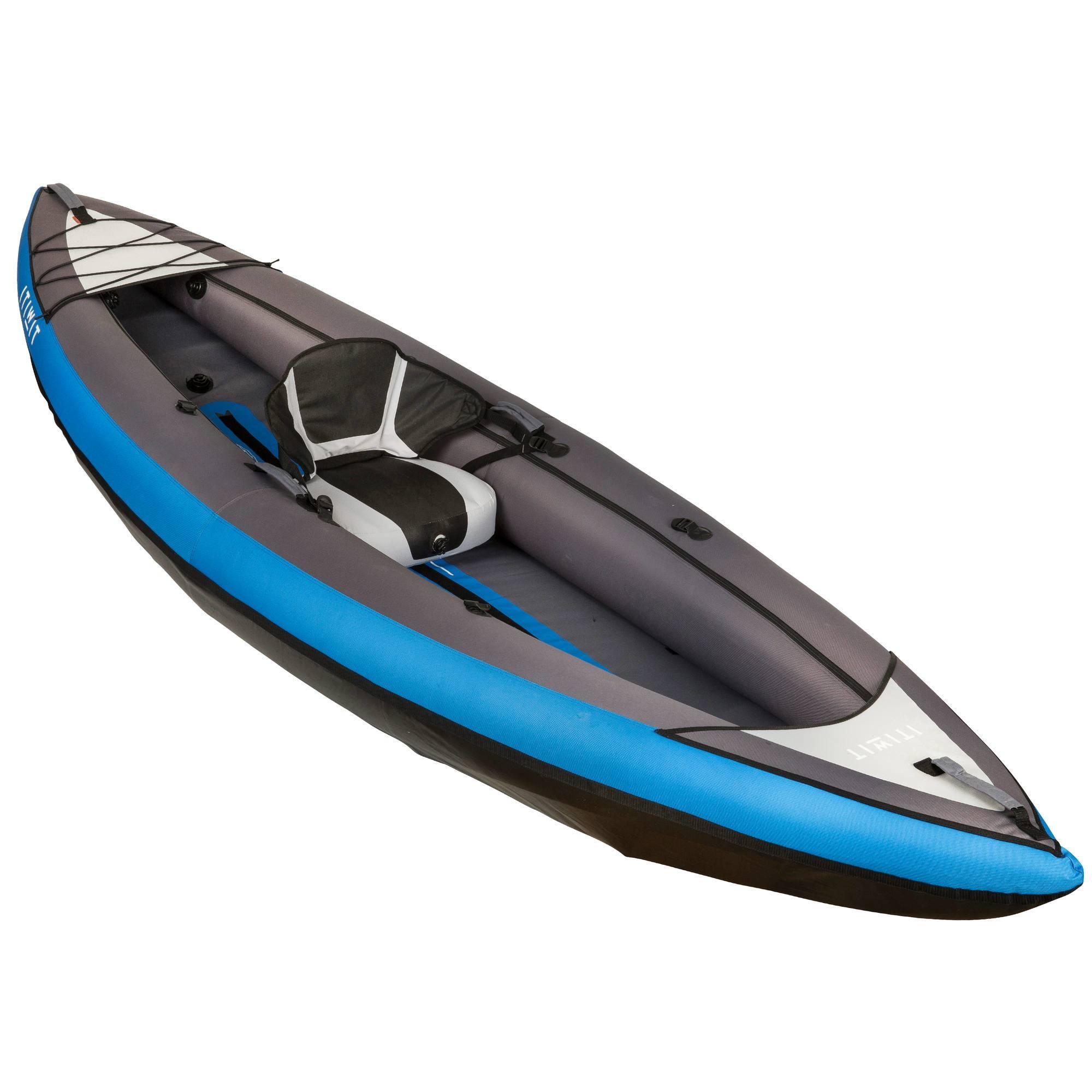 canoe kayak gonflable 1 2 places bleu clubs. Black Bedroom Furniture Sets. Home Design Ideas