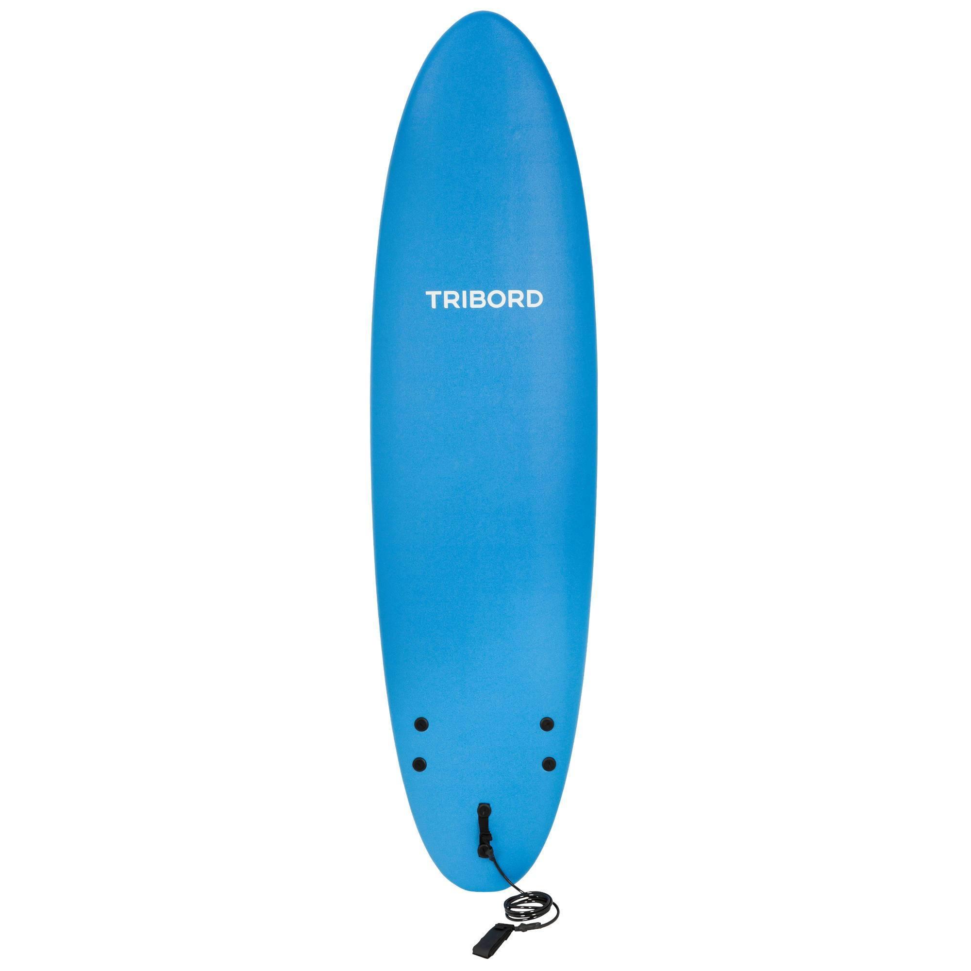 planche de surf en mousse 100 7 39 livr e avec leash et ailerons clubs collectivit s. Black Bedroom Furniture Sets. Home Design Ideas