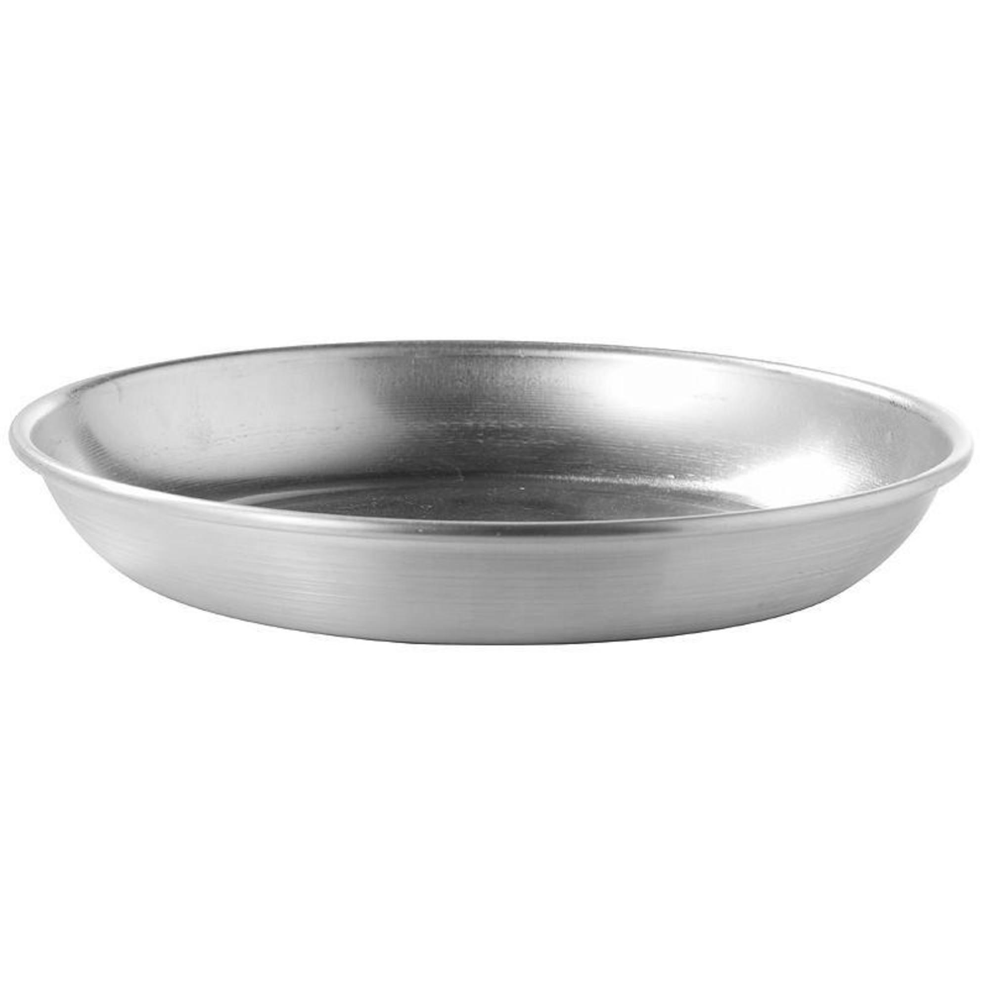 Assiette plate camp du randonneur aluminium