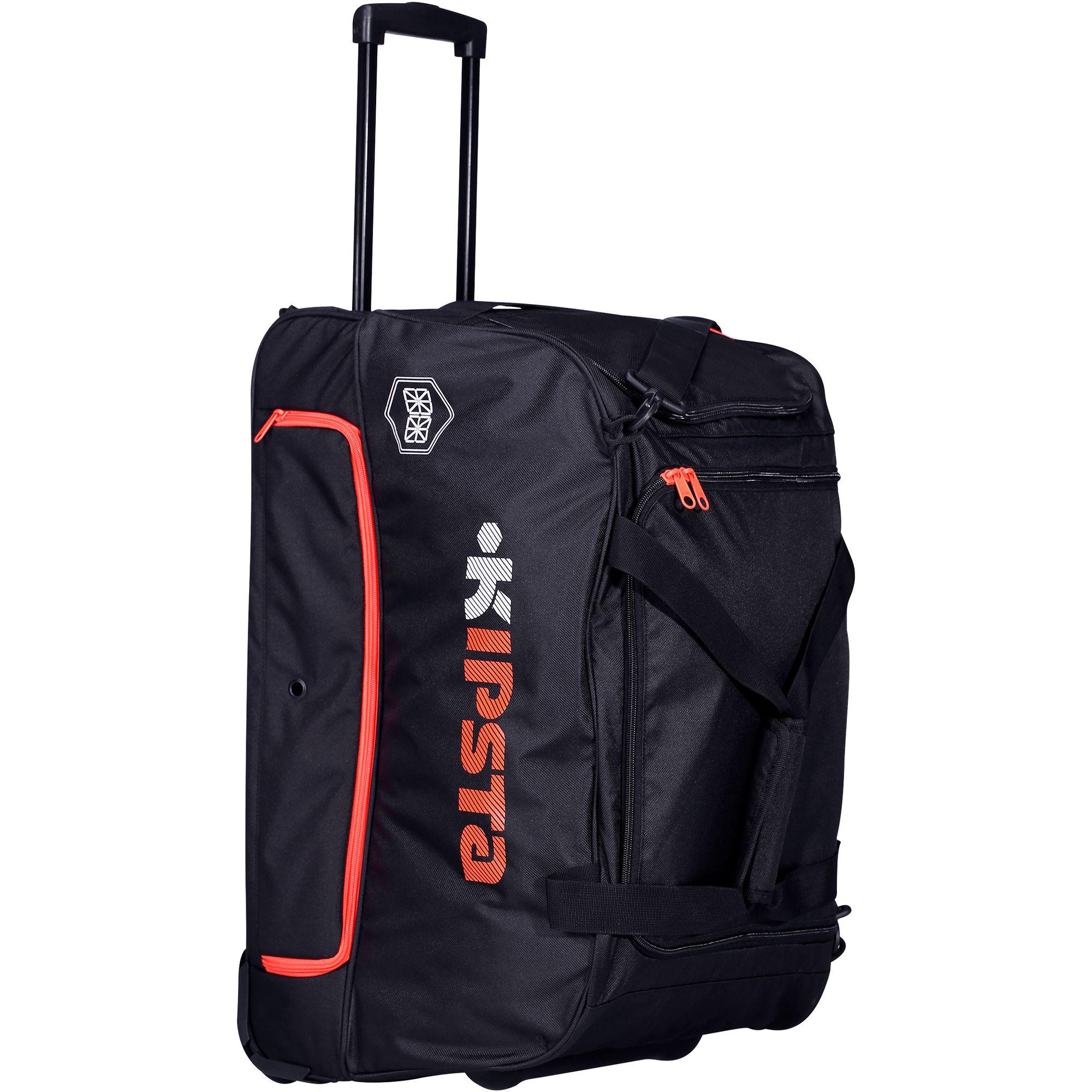 Sac à roulettes sports collectifs Hardcase 70 litres noir orange