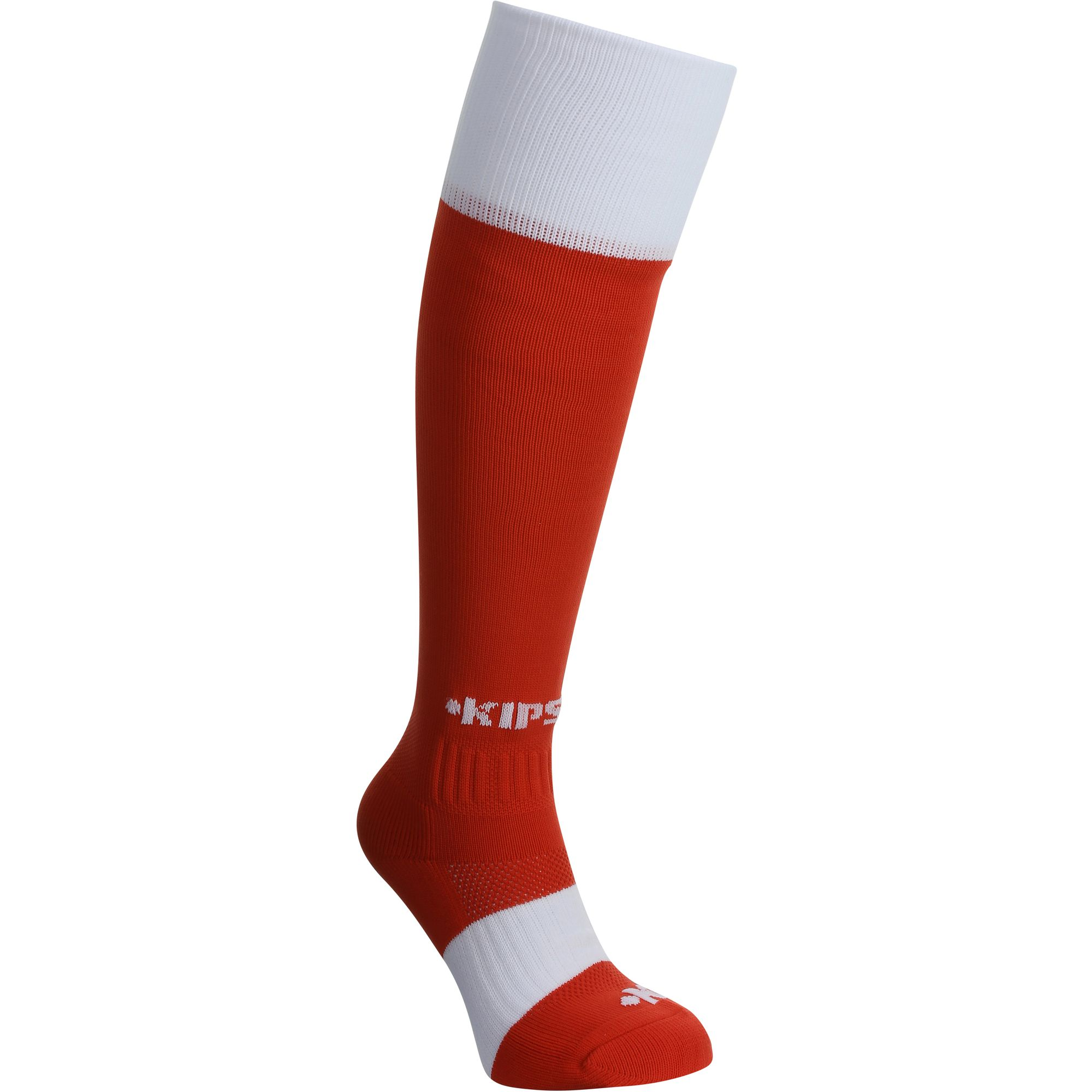 Chaussettes hautes rugby enfant Full H 500 rouge