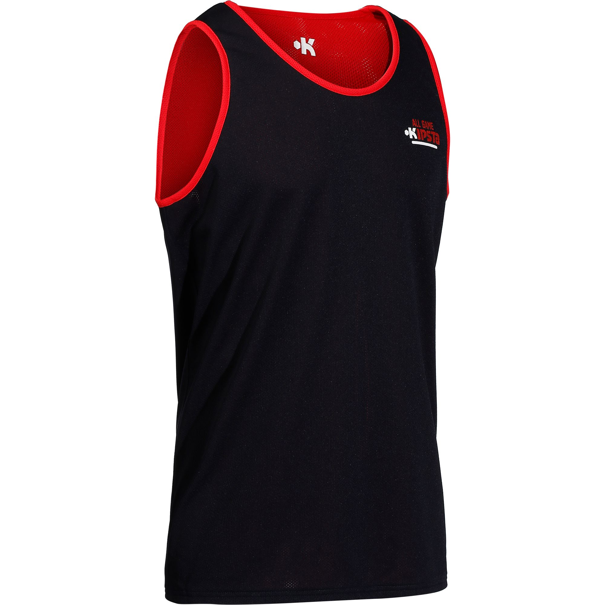 MAILLOT BASKETBALL ADULTE RÉVERSIBLE NAVY ROUGE