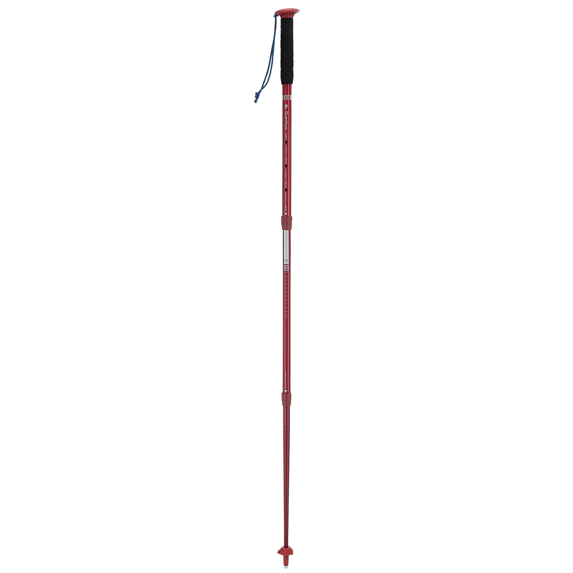 Bâton de randonnée Arpenaz 100, 100% alu , 3 brins,  ultra simple et fiable.