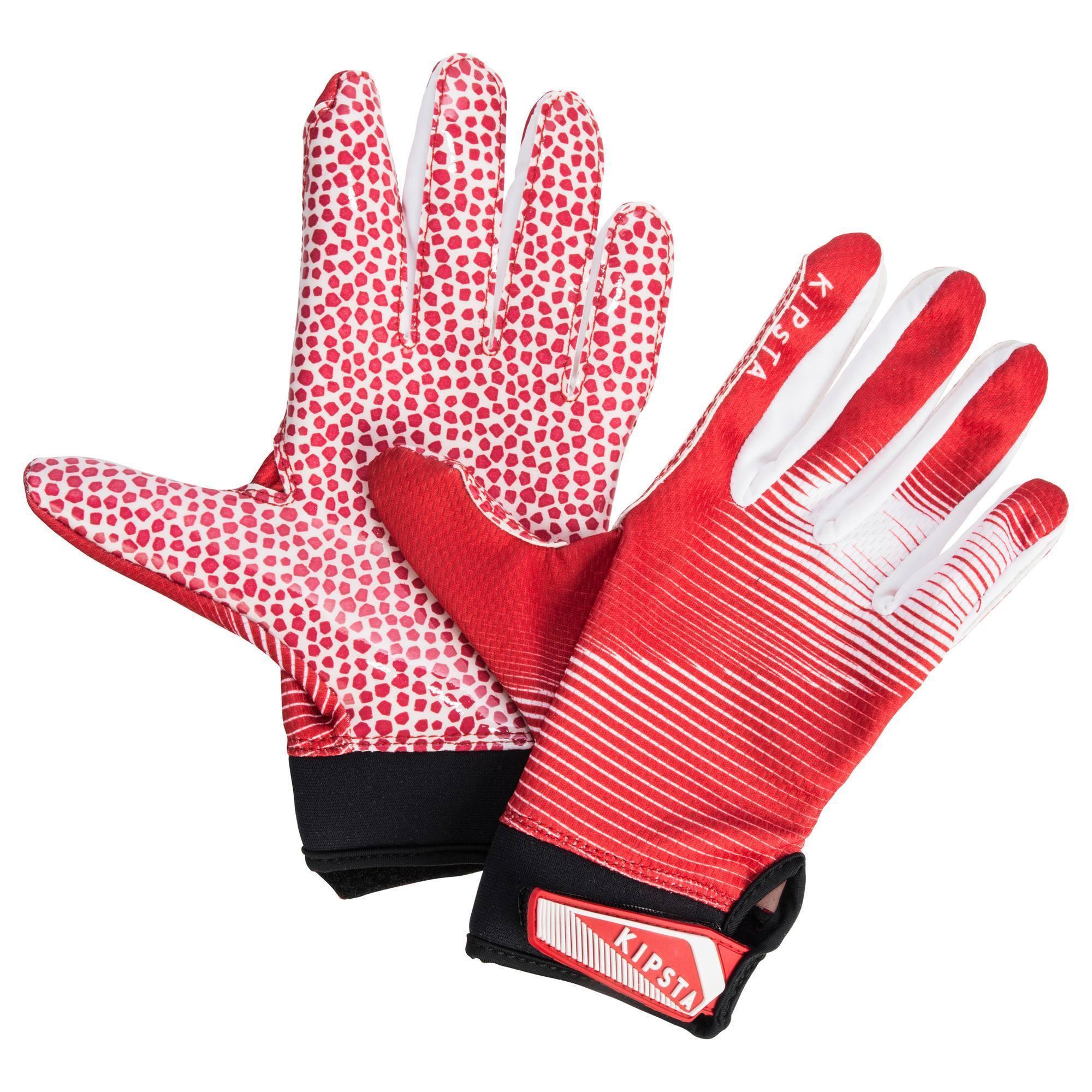 Gants de football américain AF 500 pour receveur adultes rouges et blancs