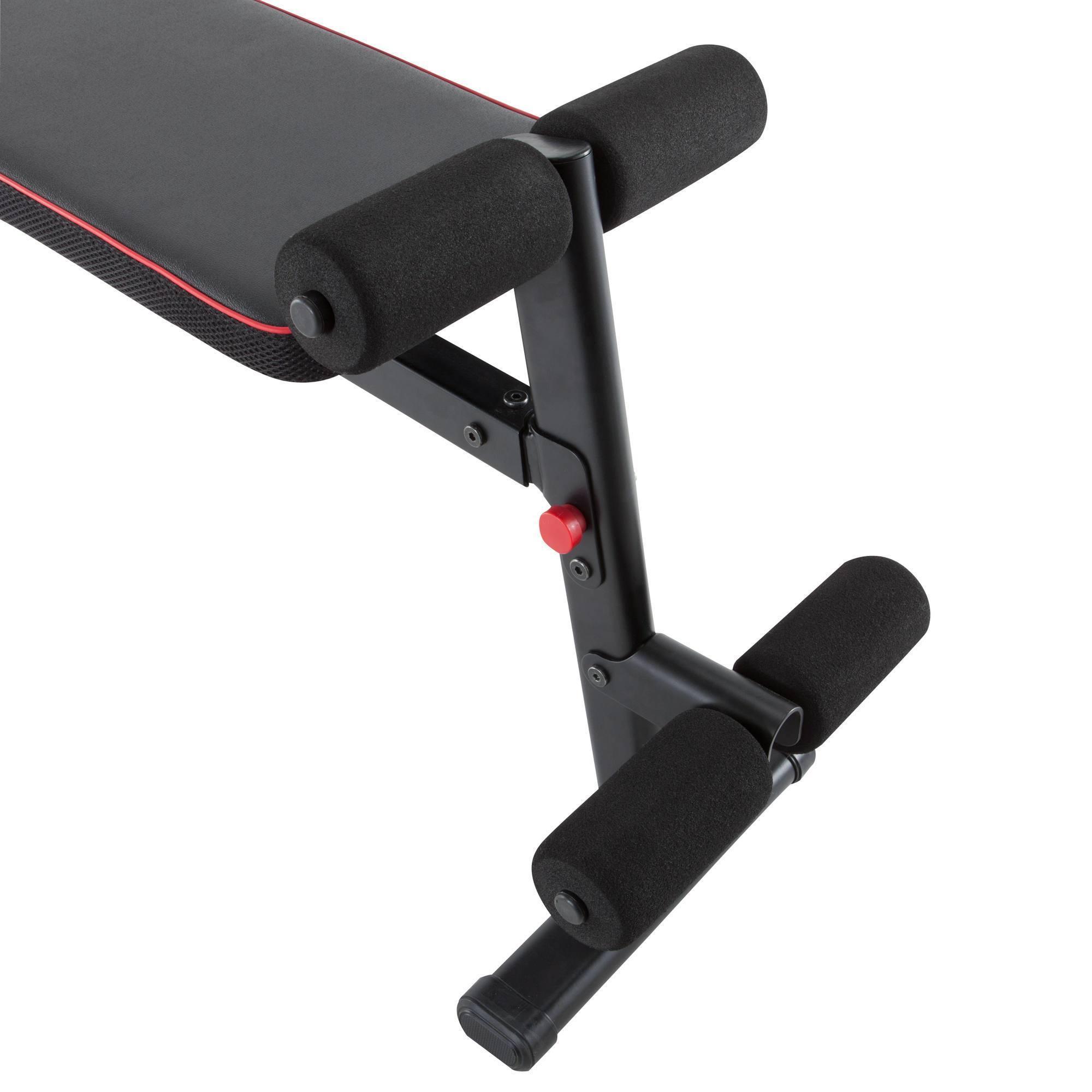banc de musculation pliable ba 500 clubs collectivit s decathlon pro. Black Bedroom Furniture Sets. Home Design Ideas