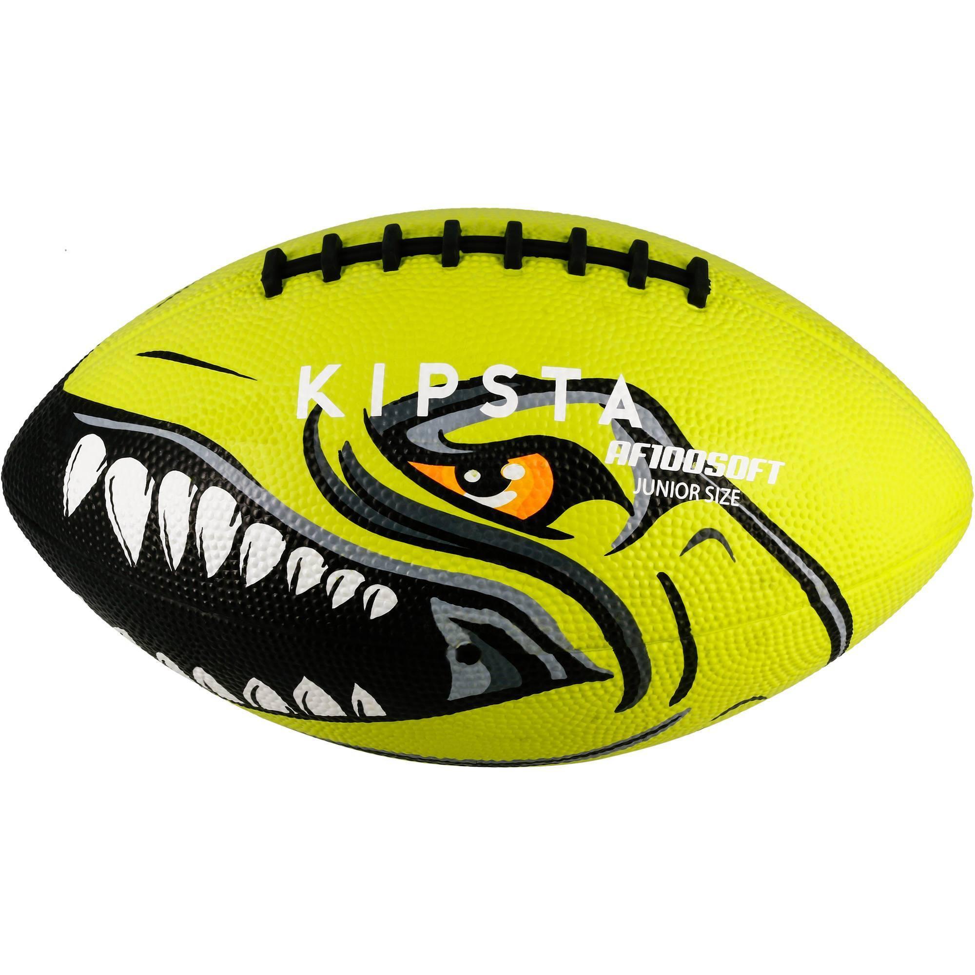 Ballon de football américain AF100 taille junior vert
