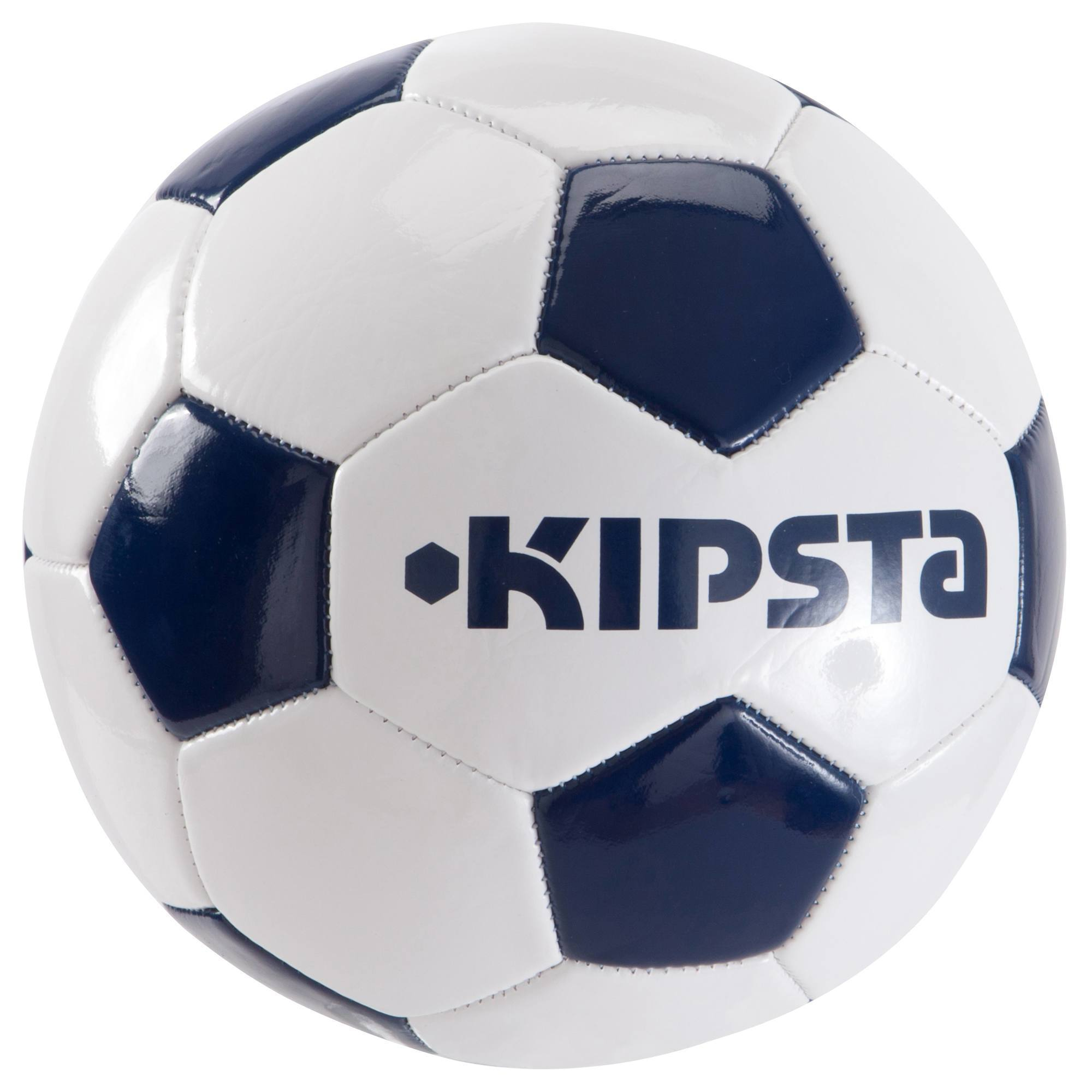 Ballon football First Kick taille 3 blanc bleu
