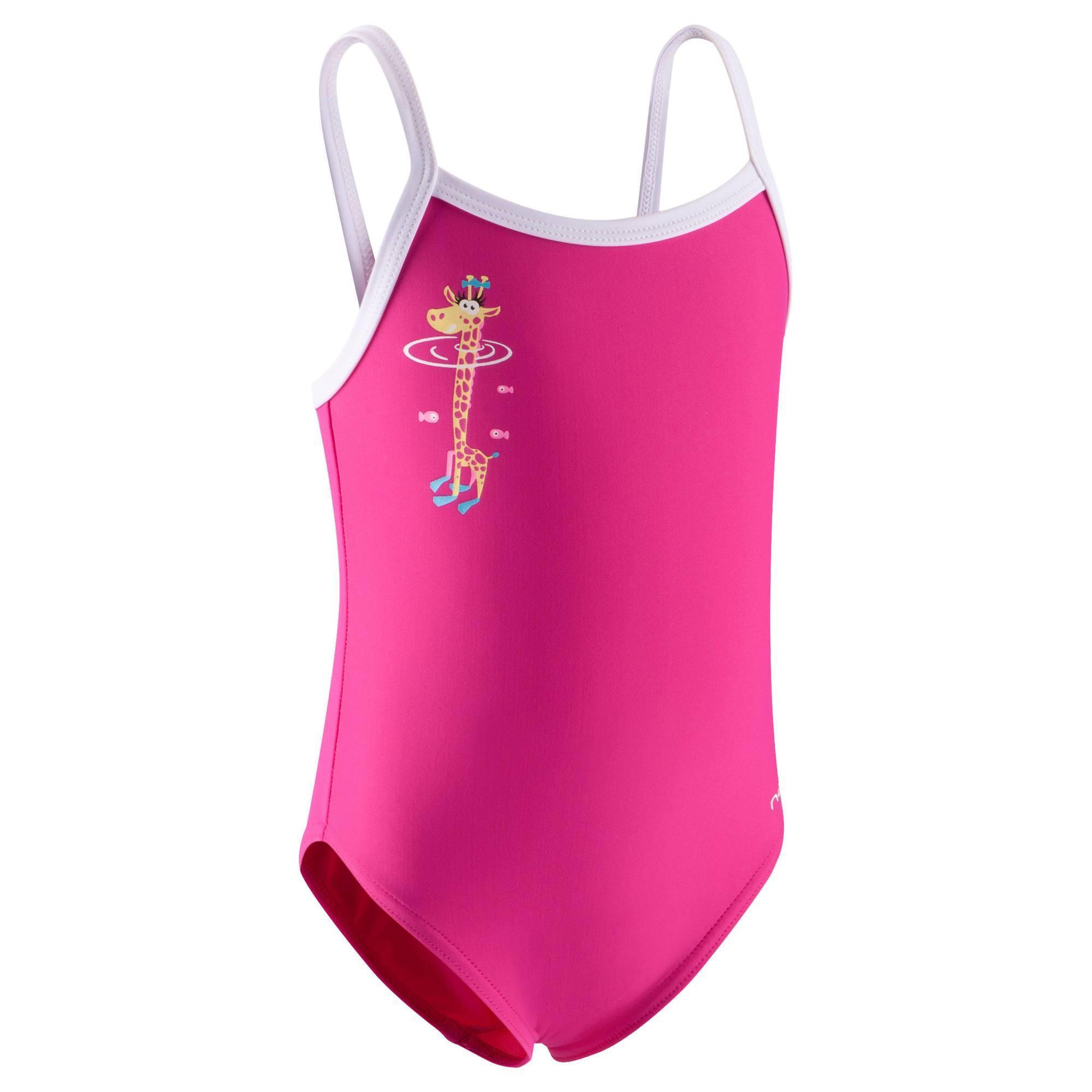 maillot de bain b b fille une pi ce madina rose gigi clubs collectivit s decathlon pro. Black Bedroom Furniture Sets. Home Design Ideas