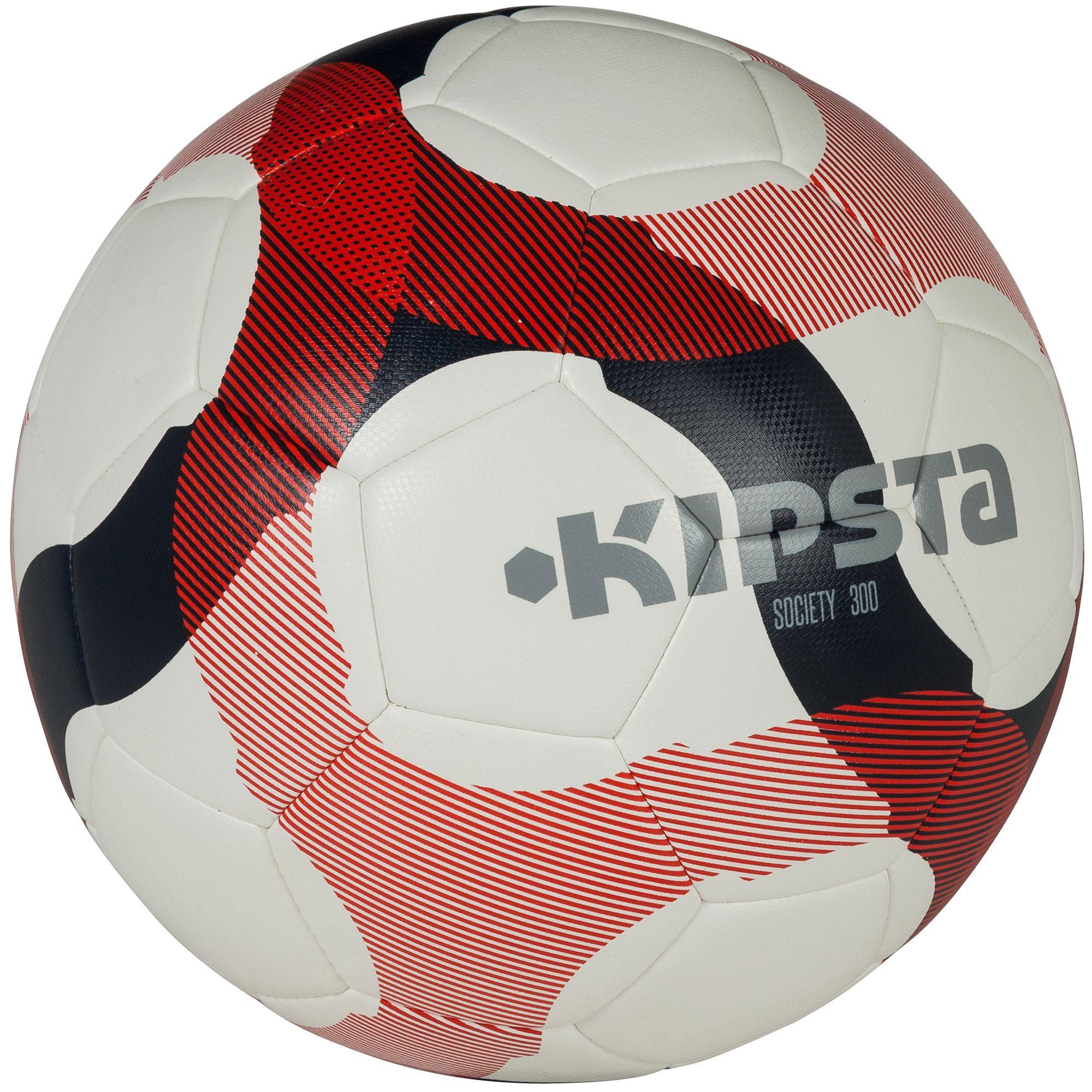 Ballon football society 300 hybride blanc bleu rouge