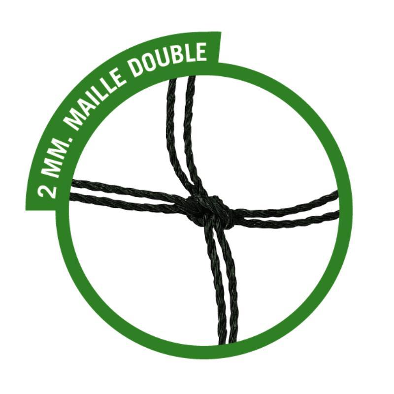 PAIRE FILETS HAND MAILLE DOUBLE 2 MM  SCOLAIRE/ENTRAÎNEMENT