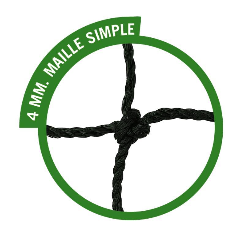 PAIRE FILETS HAND MAILLE SIMPLE 4 MM HAUTE COMPÉTITION