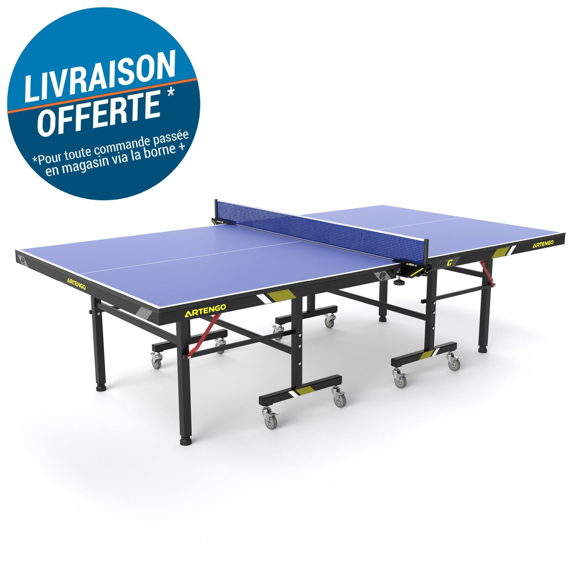 TABLE DE TENNIS DE TABLE EN CLUB FT 950 INDOOR FFTT BLEUE