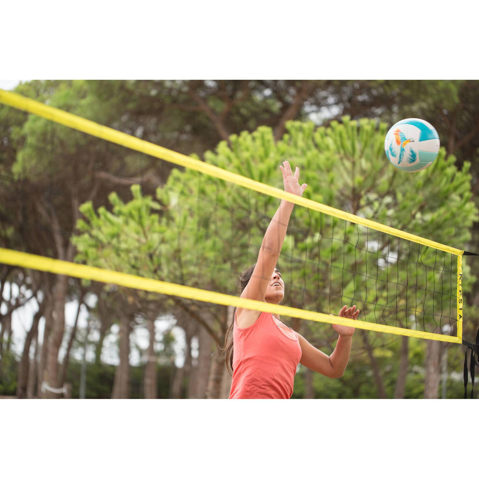 filet de volley et beach volley bv100 wiz net jaune clubs collectivit s decathlon pro. Black Bedroom Furniture Sets. Home Design Ideas
