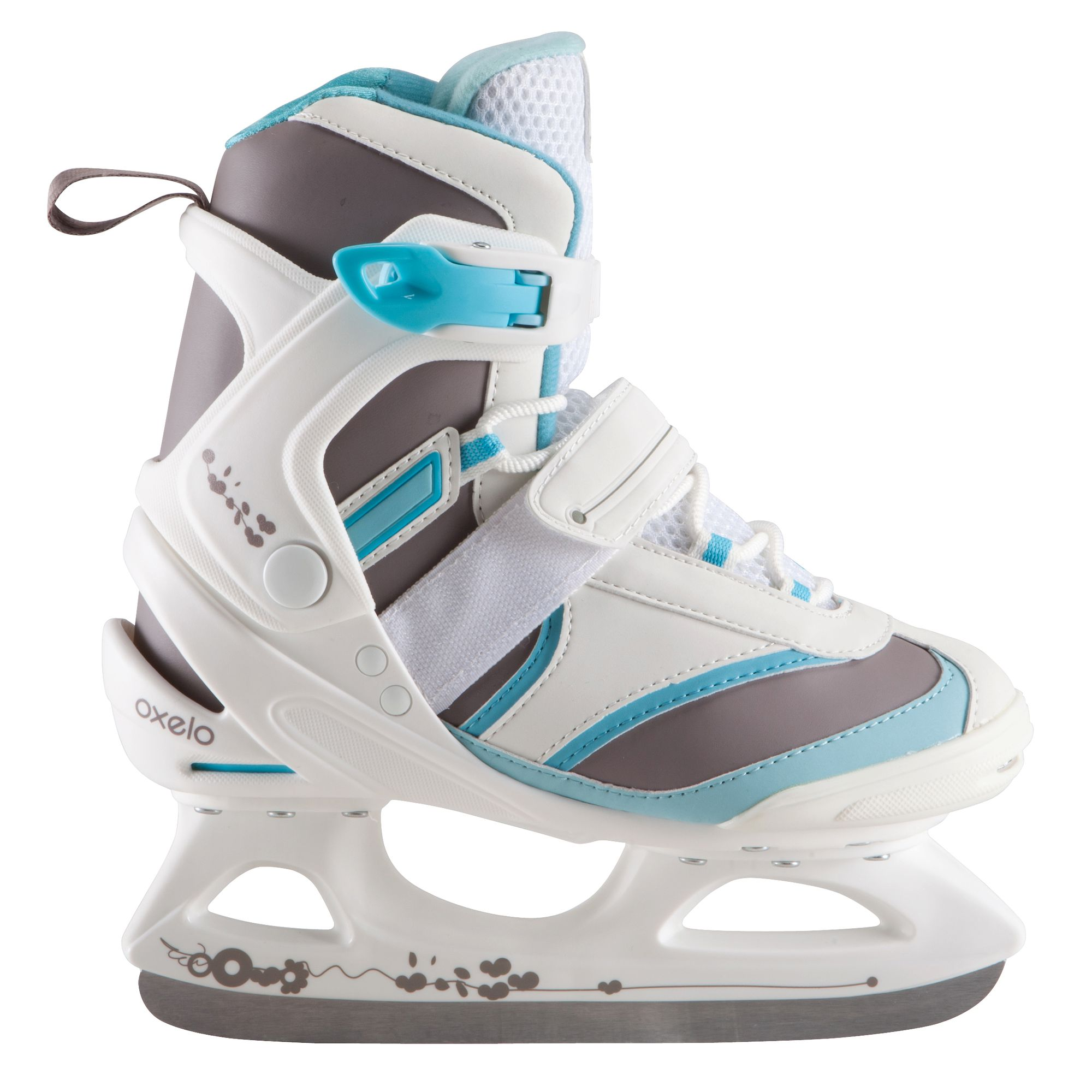 patin a glace fit 3 femme blanc bleu clubs. Black Bedroom Furniture Sets. Home Design Ideas