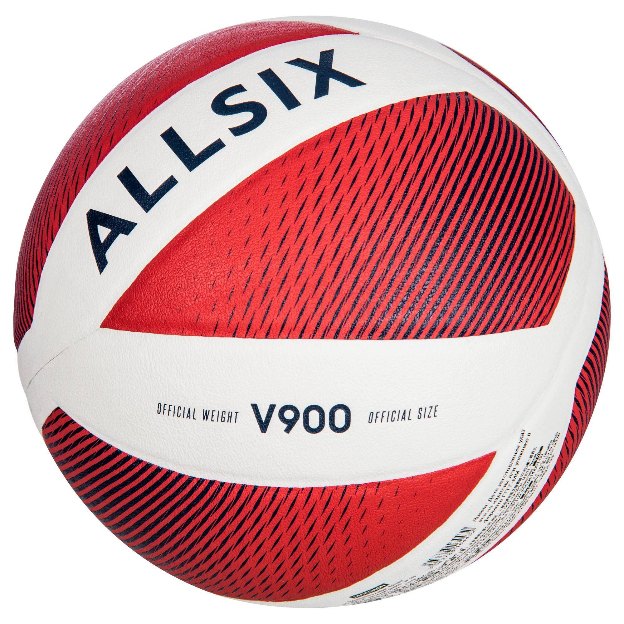Ballon de volley-ball V900 FIVB blanc et rouge