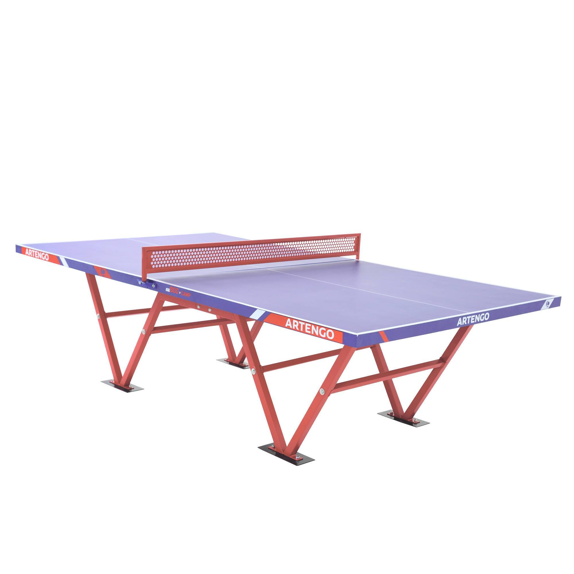 Table de ping pong pour collectivites artengo ft800 camp - Table de ping pong exterieur pour collectivite ...