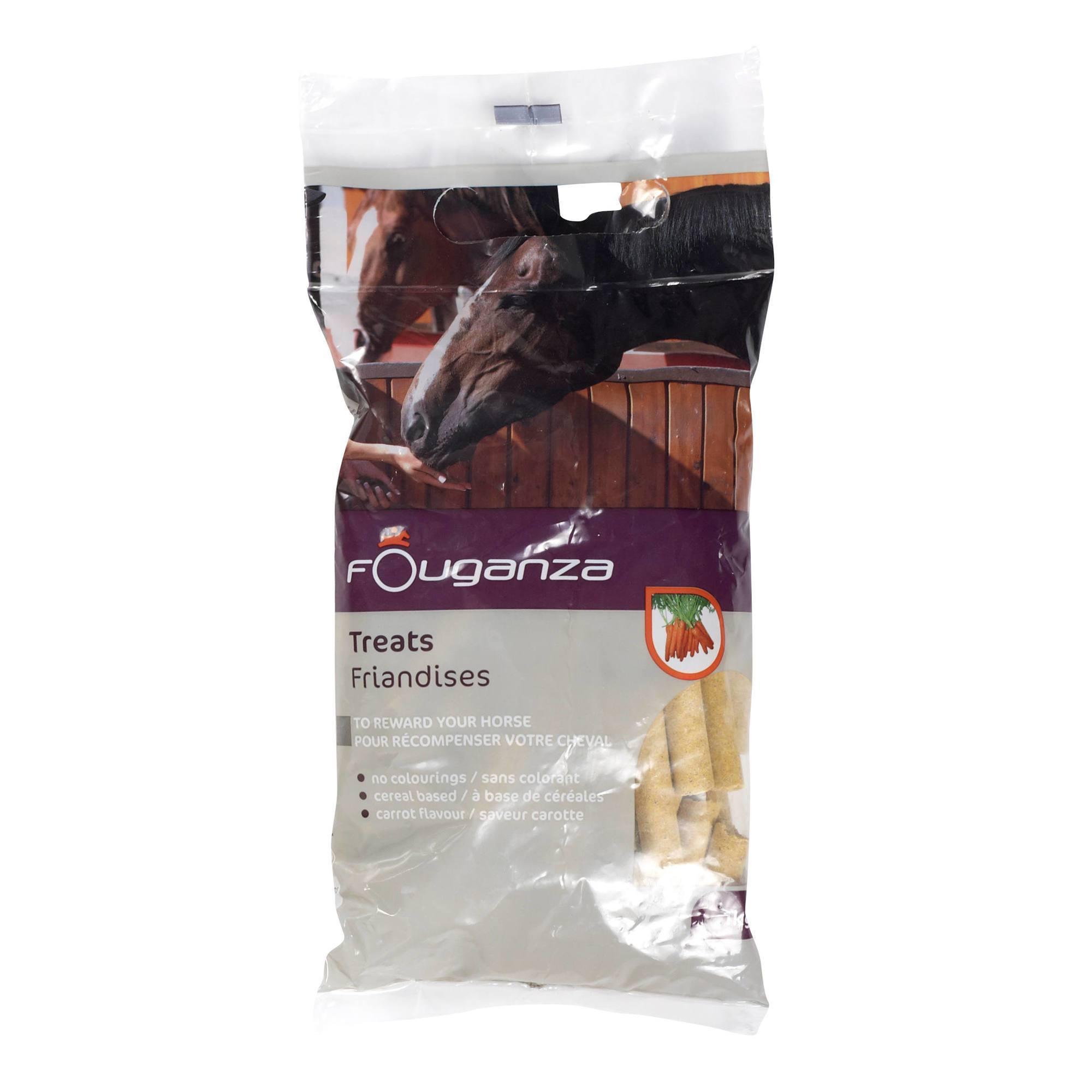 Friandises pour chevaux et poneys FOUGATREATS carotte - 1KG