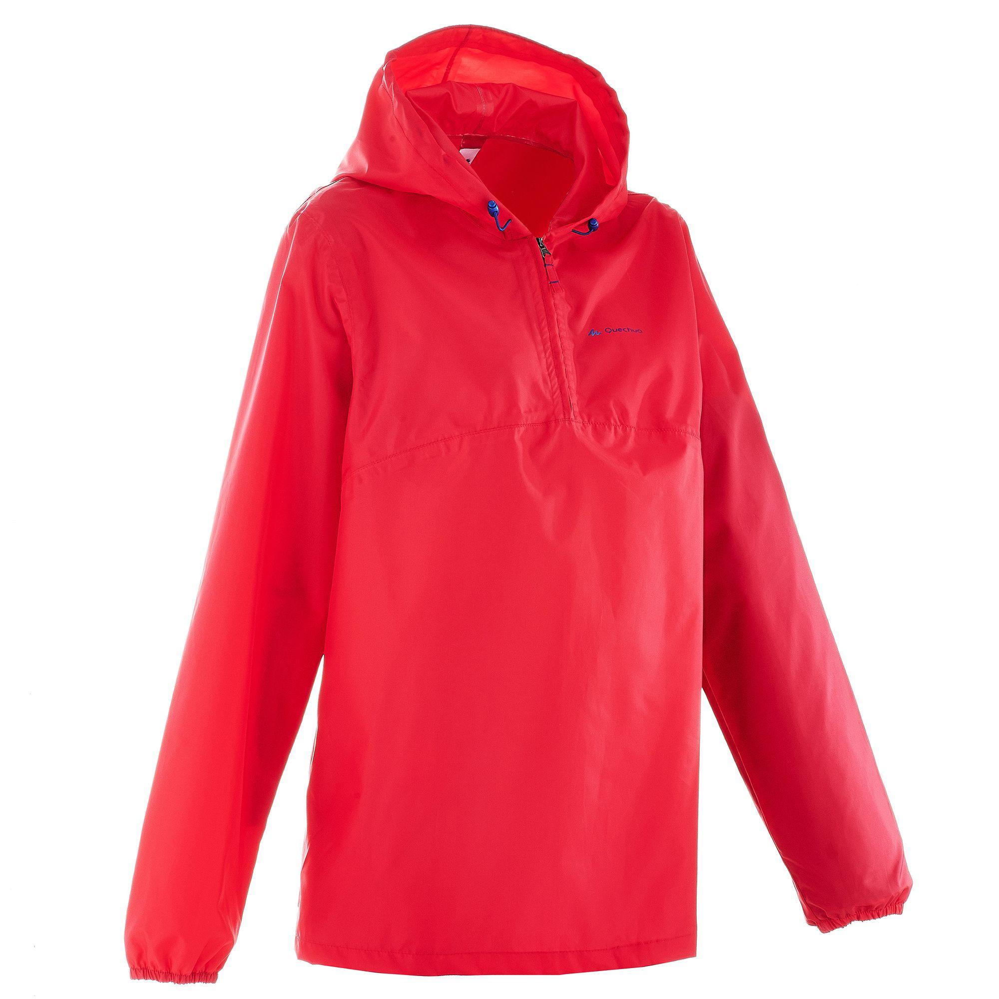 Coupe pluie Imperméable randonnée nature NH100 Raincut rose femme