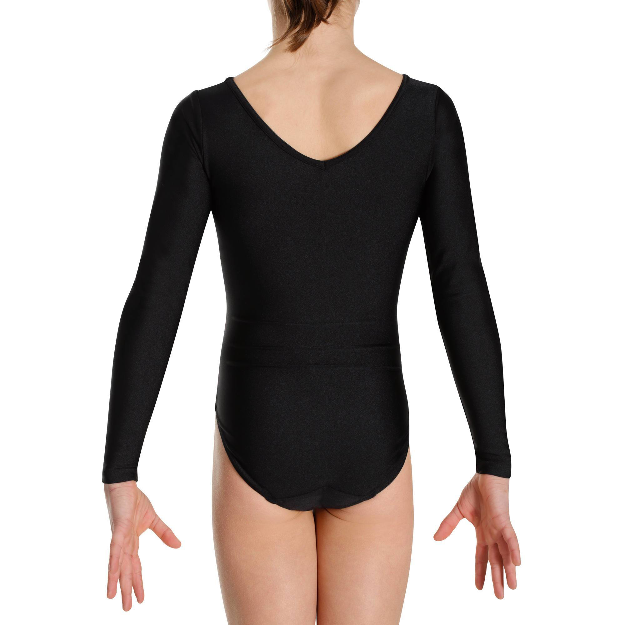 Justaucorps manches longues Gym Fille Noir-Rose - Clubs ... bc13a2ee8db