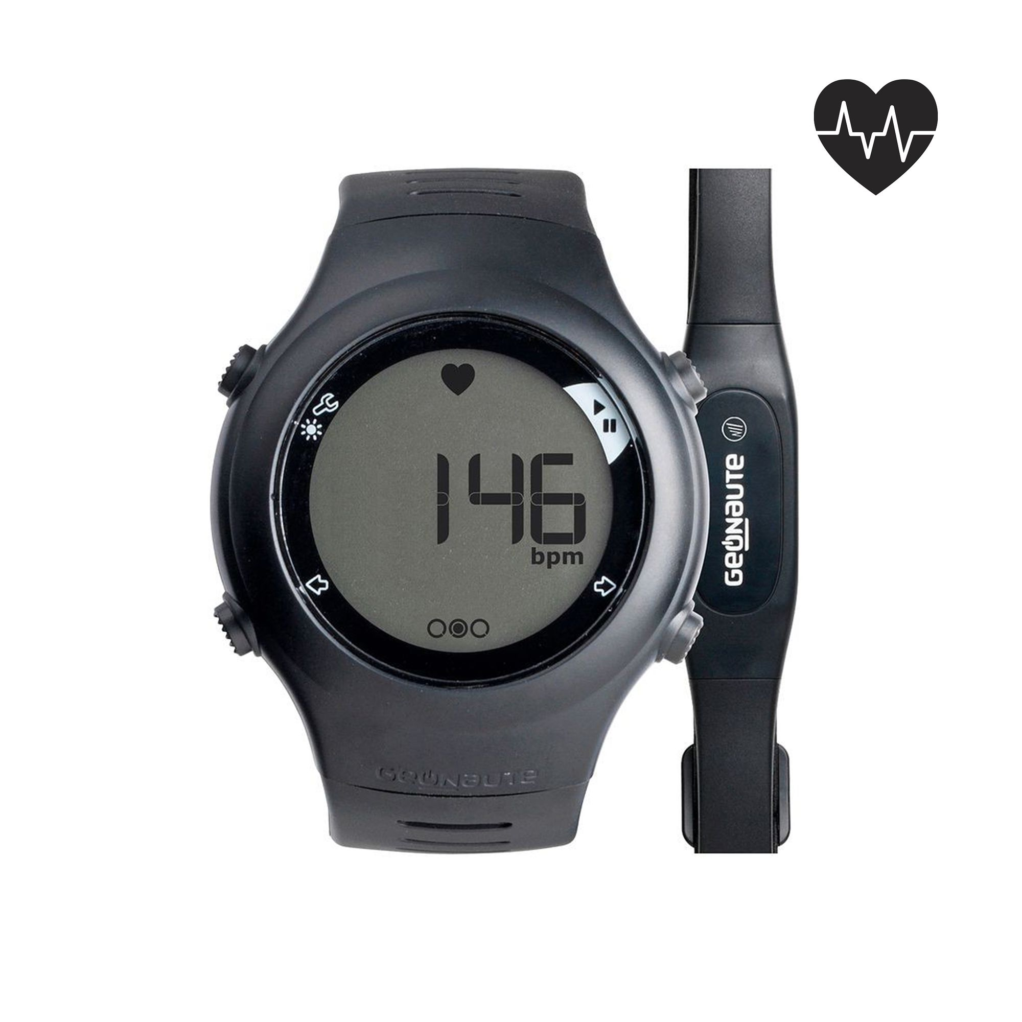 Montre cardiofréquencemètre de course à pied ONRHYTHM 110 noire