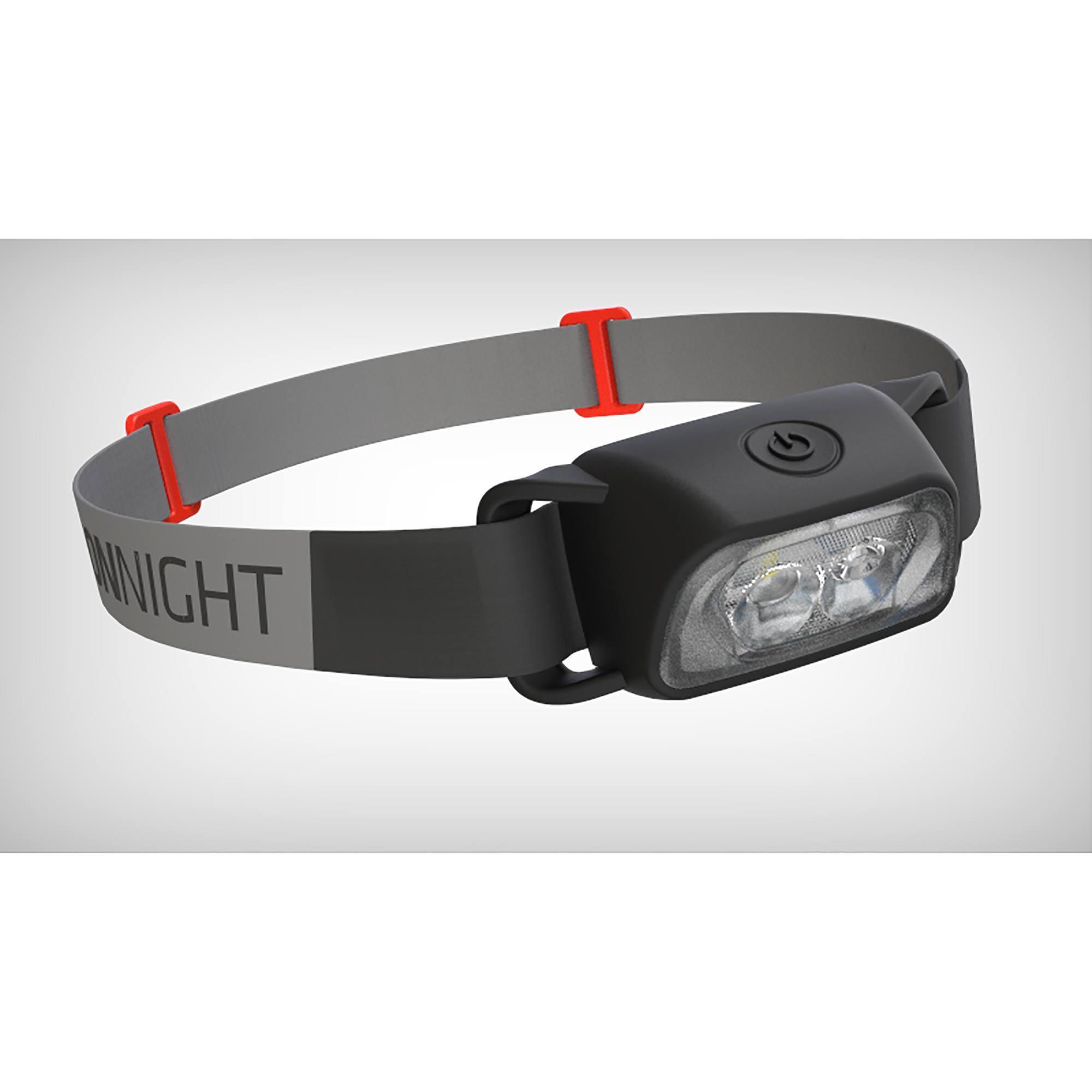 Lampe frontale trekking ONNIGHT100 noire - 80 lumens