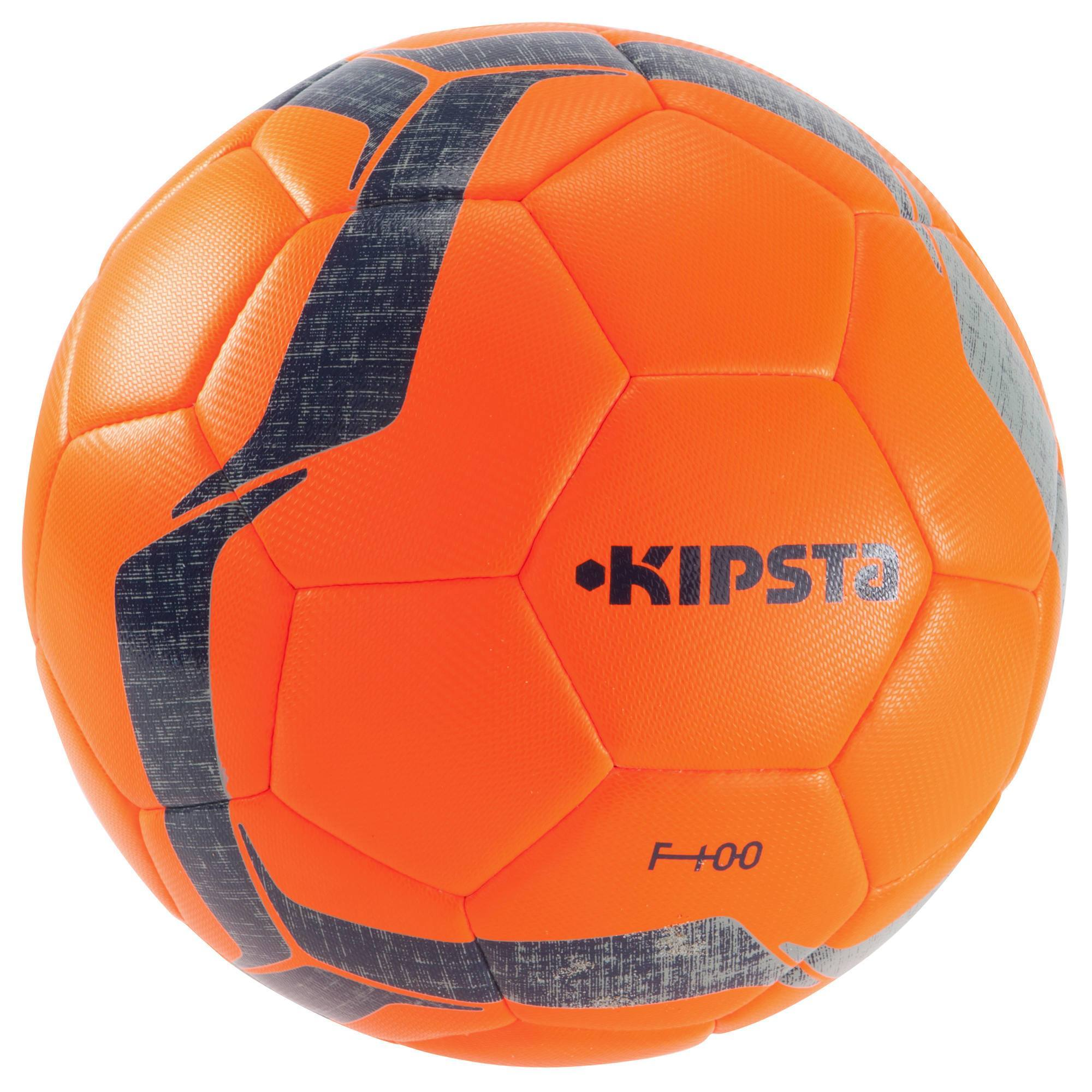 Ballon de football F100 Hybride taille 5 orange