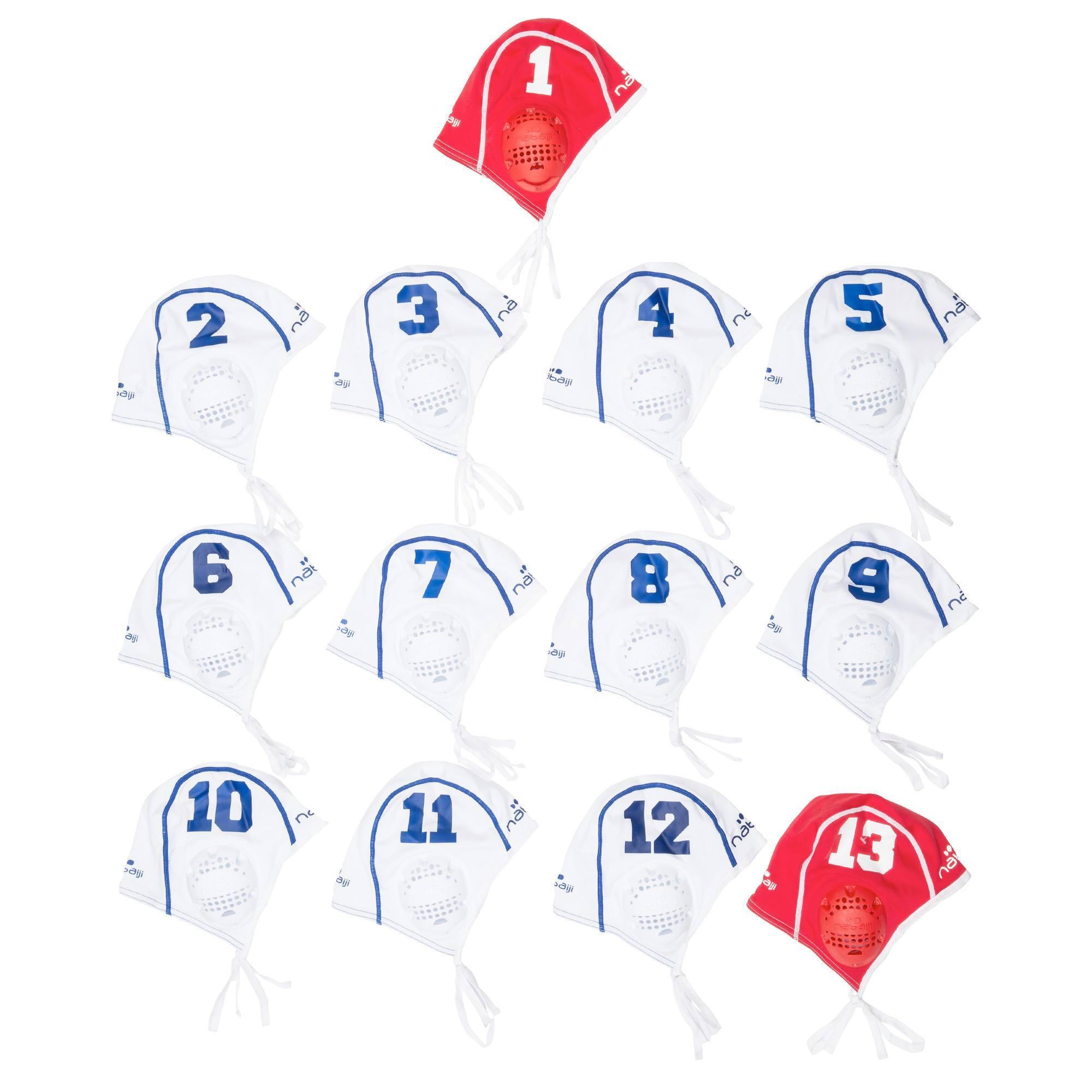 Lot 13 bonnets Water Polo adulte blanc