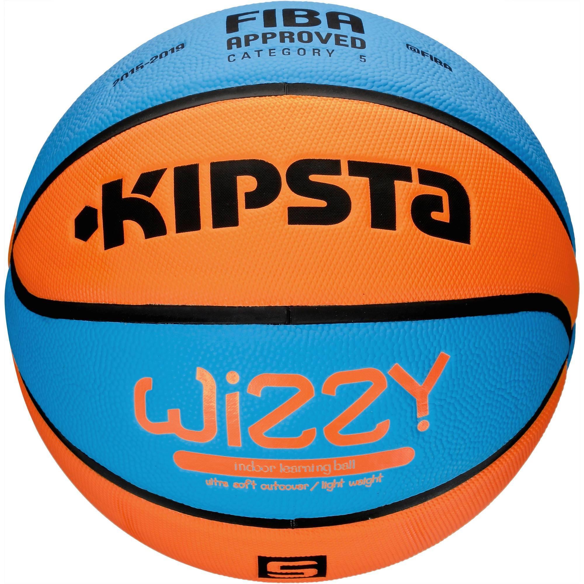 BALLON BASKET-BALL WIZZY T5 FIBA  INTÉRIEUR