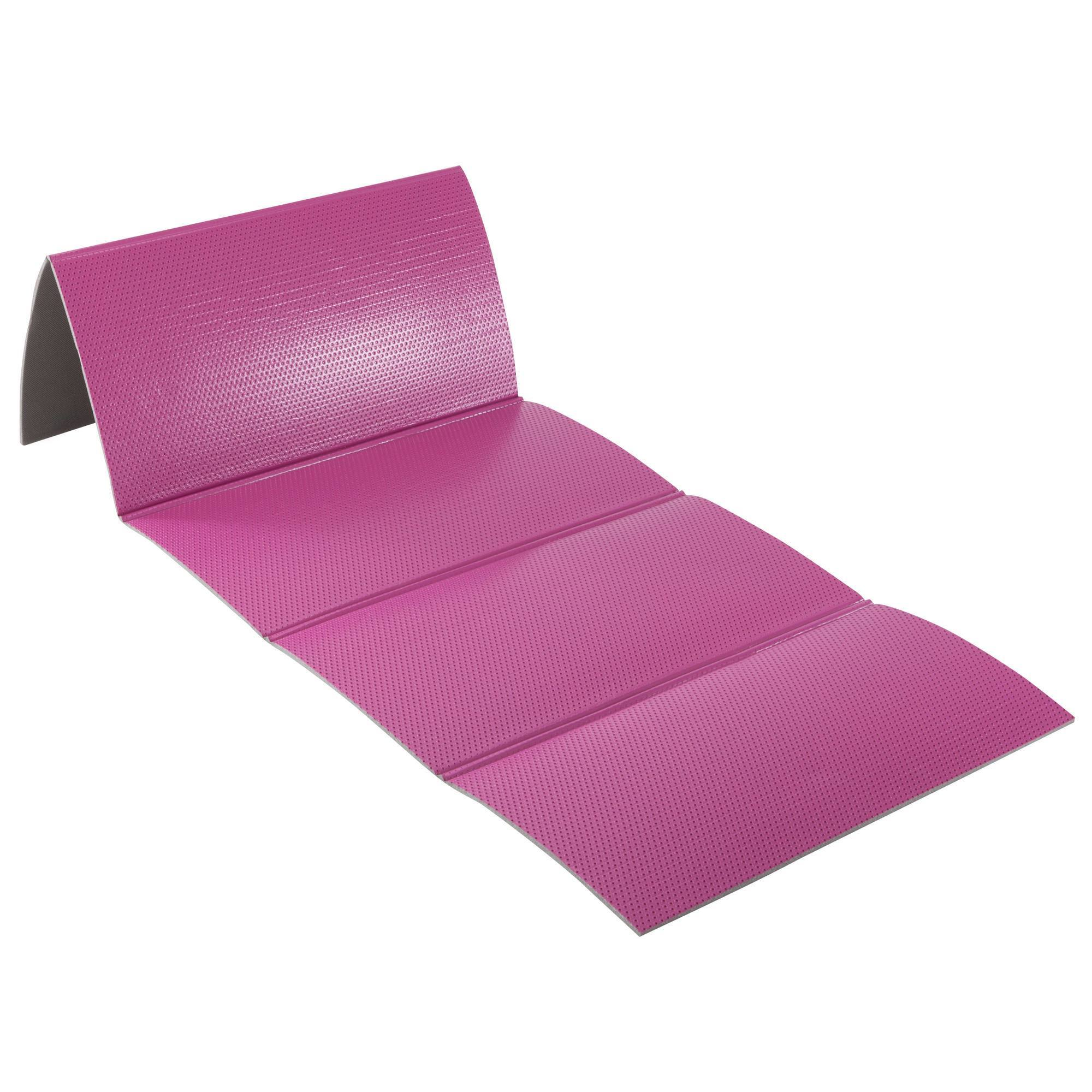 TAPIS SOL 500 RESISTANT CHAUSSURES & PLIABLES PILATES TONING TAILLE M 8mm ROSE