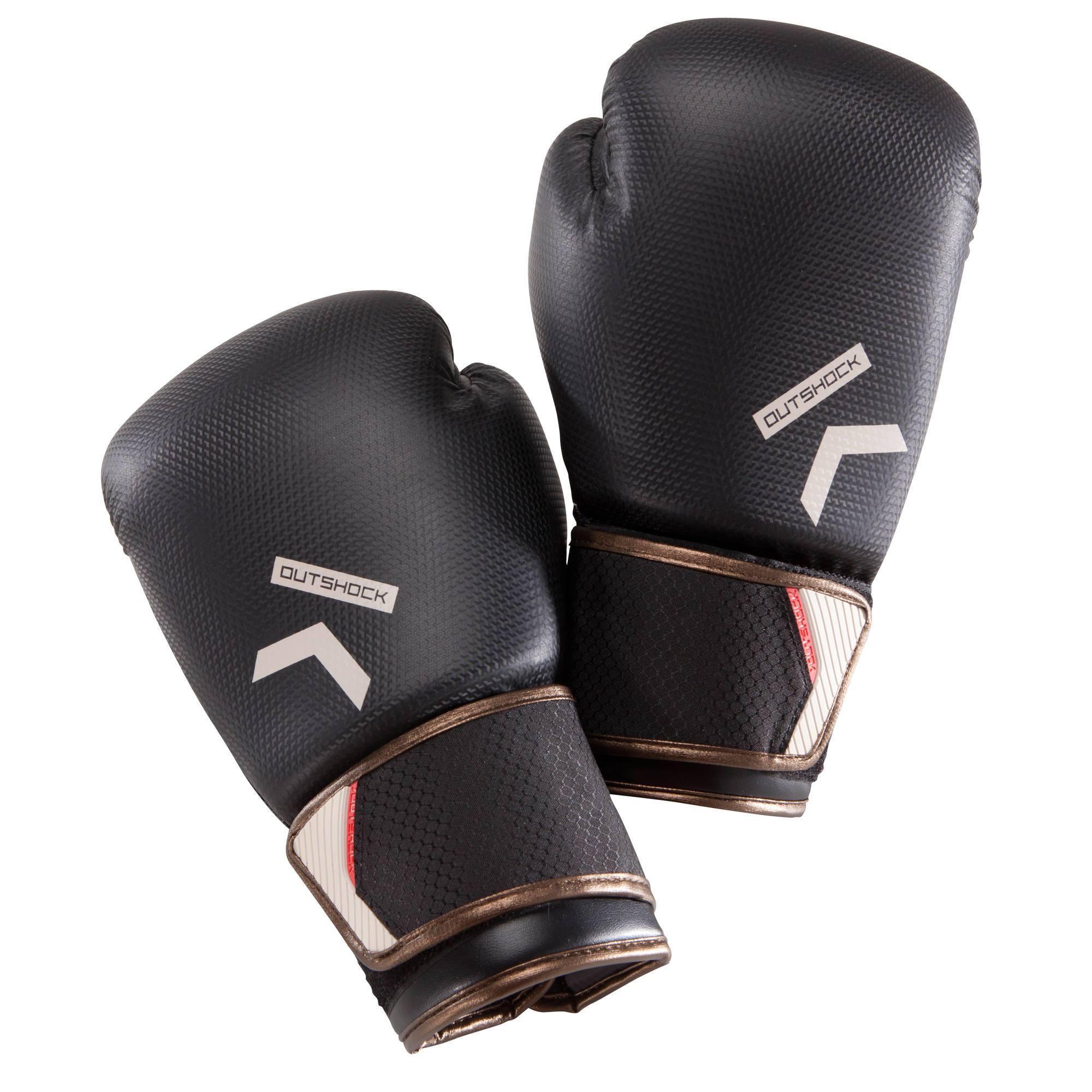 gants de boxe 500 carbone gants pour boxeur confirm s. Black Bedroom Furniture Sets. Home Design Ideas
