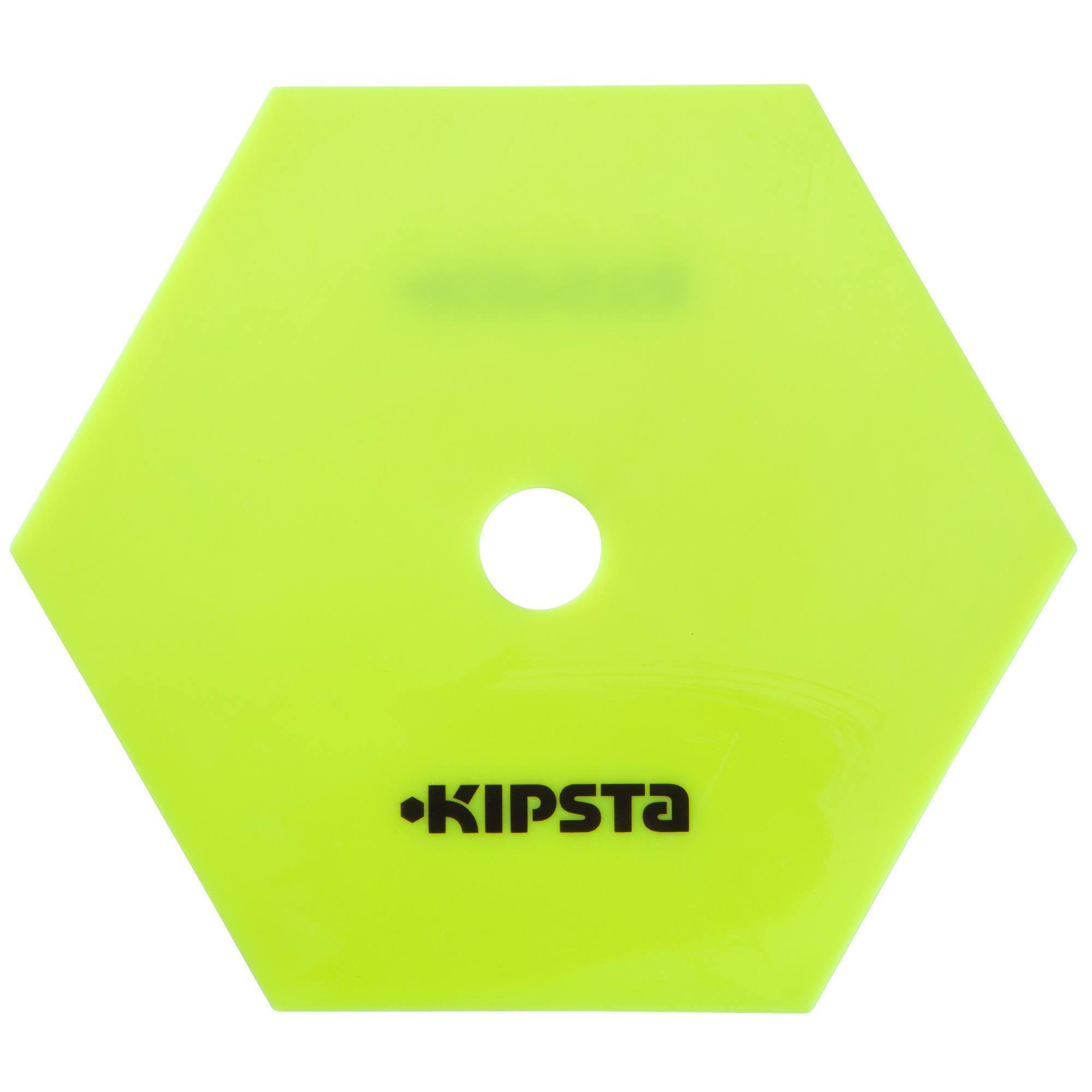 Lot 10 disques hexagonaux extra plats jaune